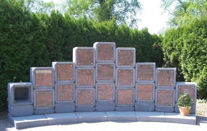 Urnen Wand Kolumbarium friedhof deutschland urnenwände