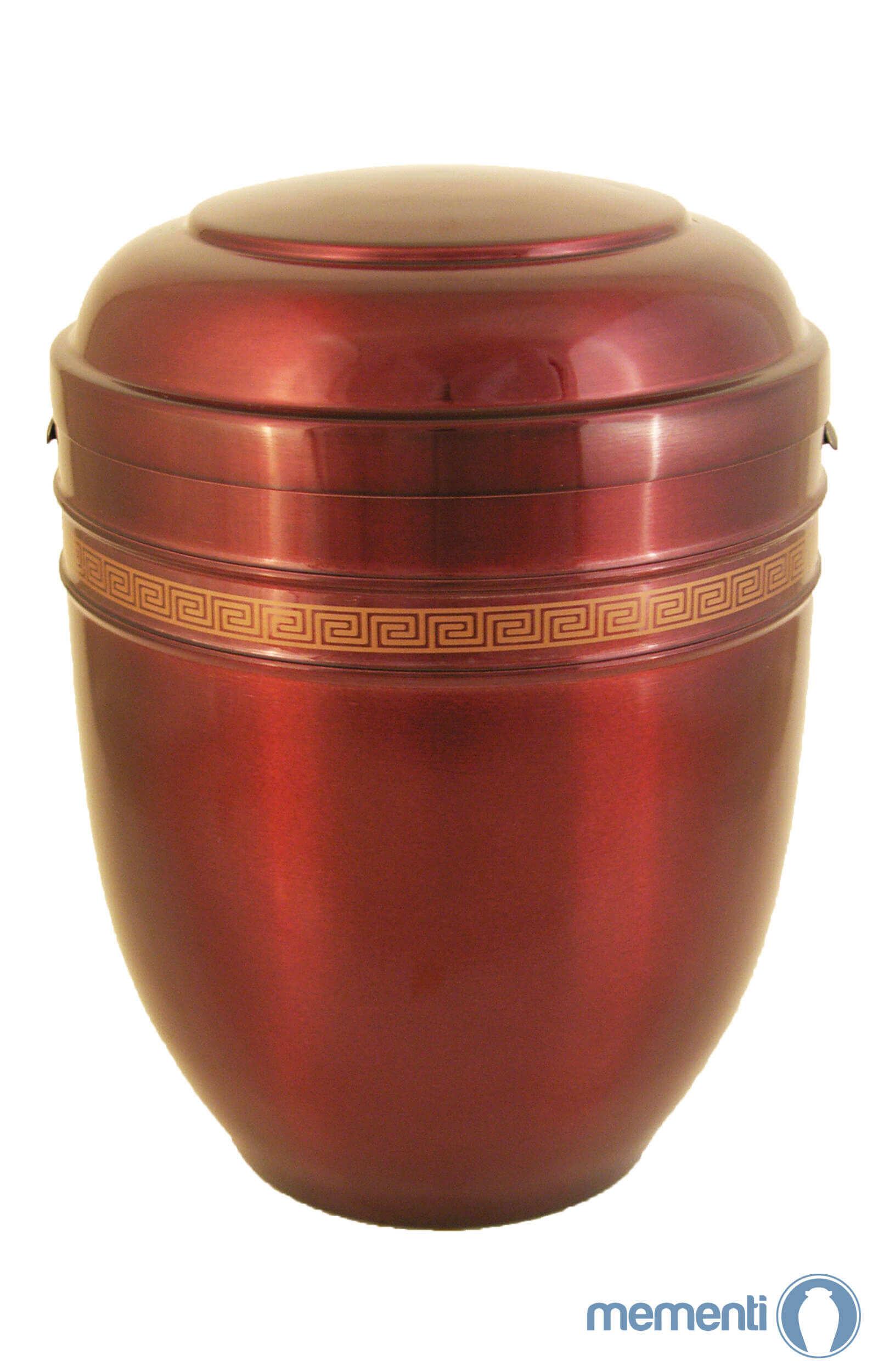de AR5434 Metallurne Metall Urne rot gold glaenzend Urnen kaufen