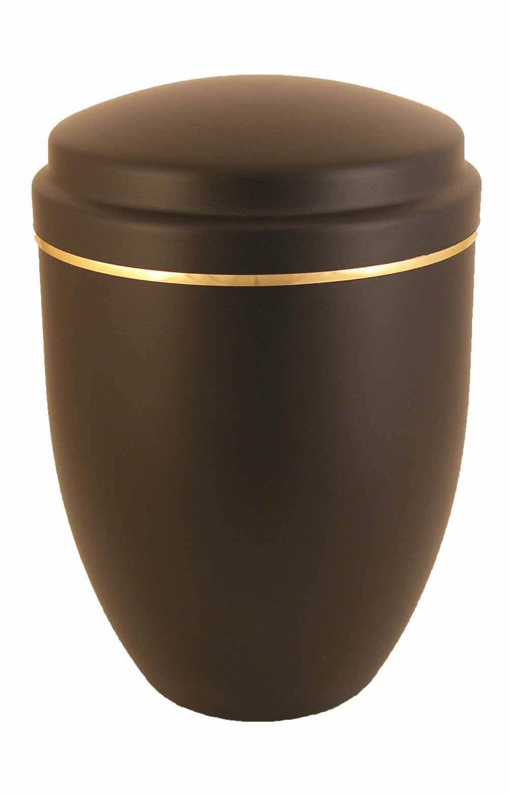 de AS5556 Metall Urne Metallurne schwarz edel traditionell Nacht goldrand