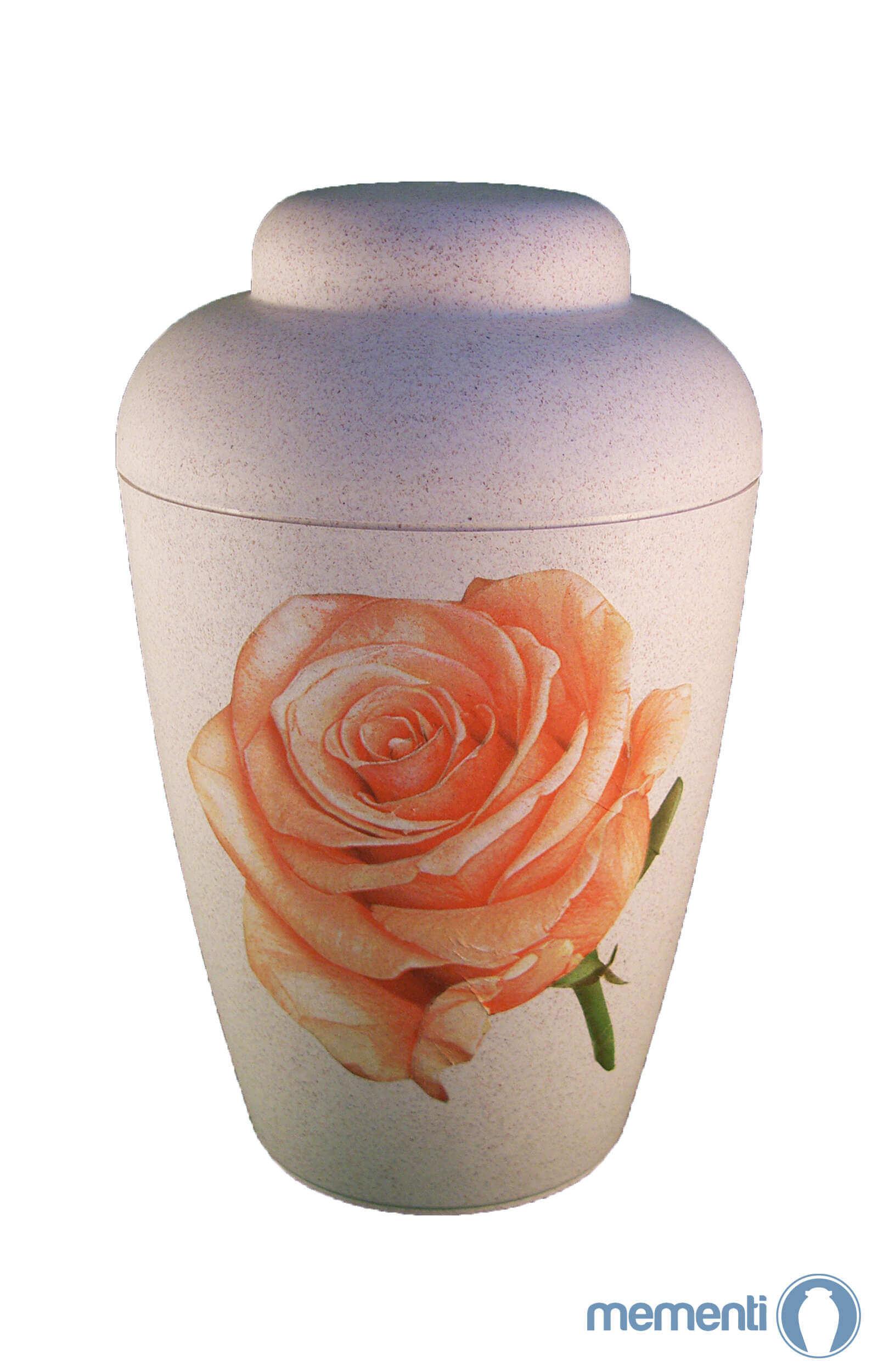 de BVR1702 weisse bio urne vale rosa rose urnen kaufen