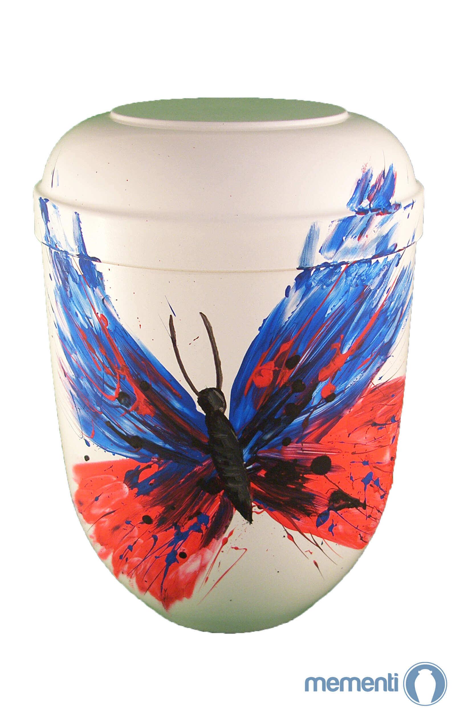 de BW3388 Bio Urne weiss comar Schmetterling der Wiederauferstehung Urnen kaufen Biournen