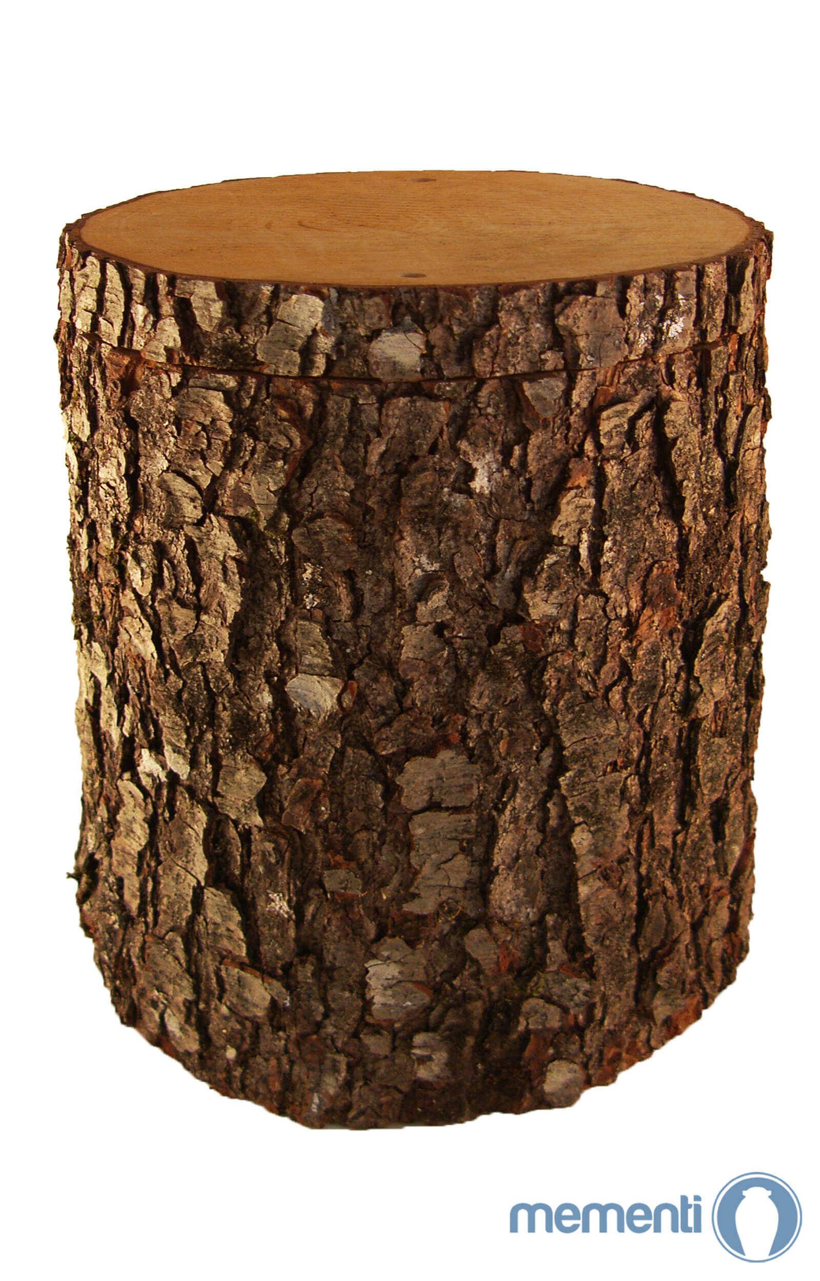 de HB28A08 urne aus holz eiche baumstamm urnen kaufen