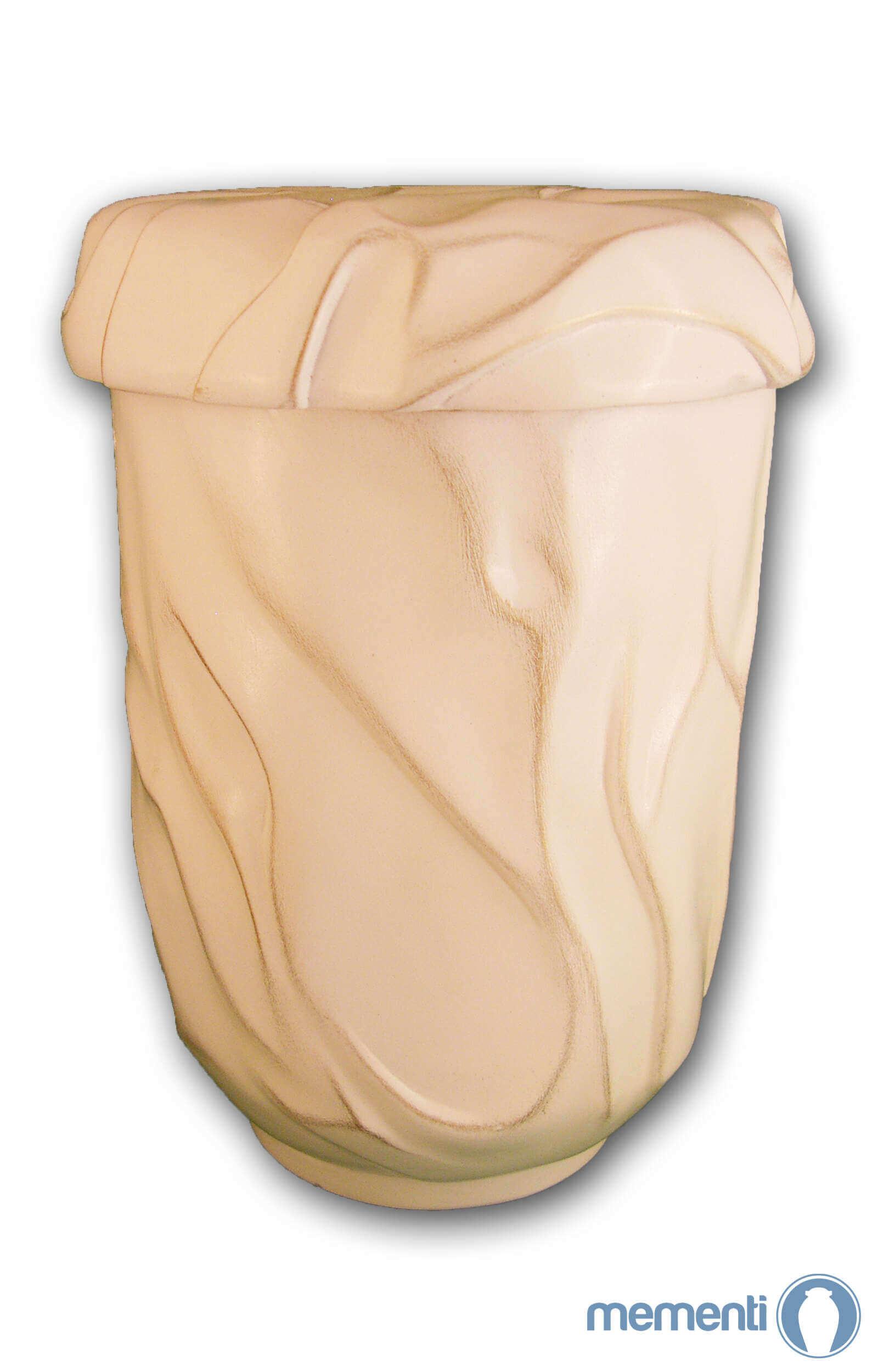 de KW1532 keramik urne cremeweiss meer der stille urnen kaufen