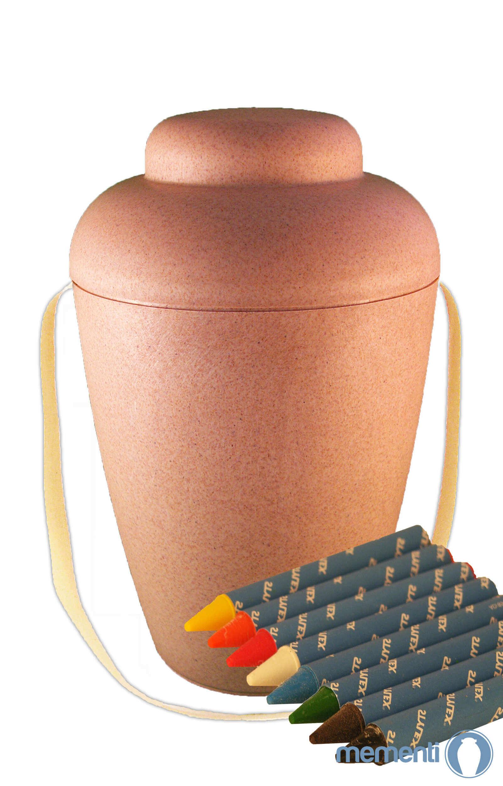 de MWN4402 bio urnen mal set selbst bemalen natur urne kaufen wachsmalstifte