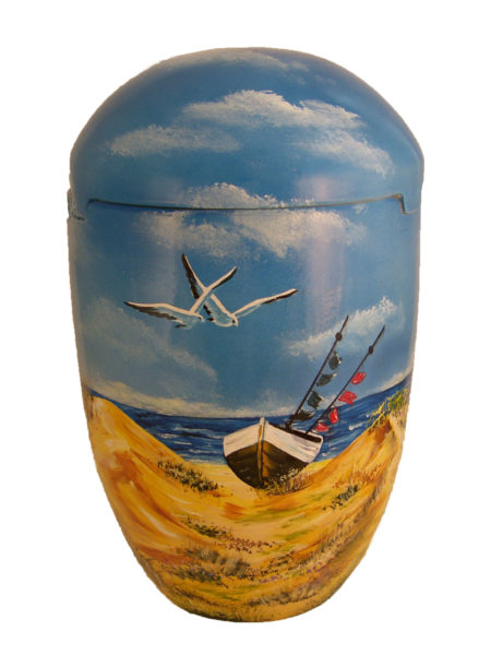 de SBS7026 Seeurne Bio Urne Moewen Strand Meer Schiff Urnen kaufen