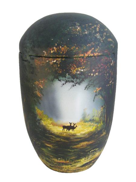 de SBW7028 Seeurne Wald Hirsch Sonne Urnen kaufen Baum gruen schwarz