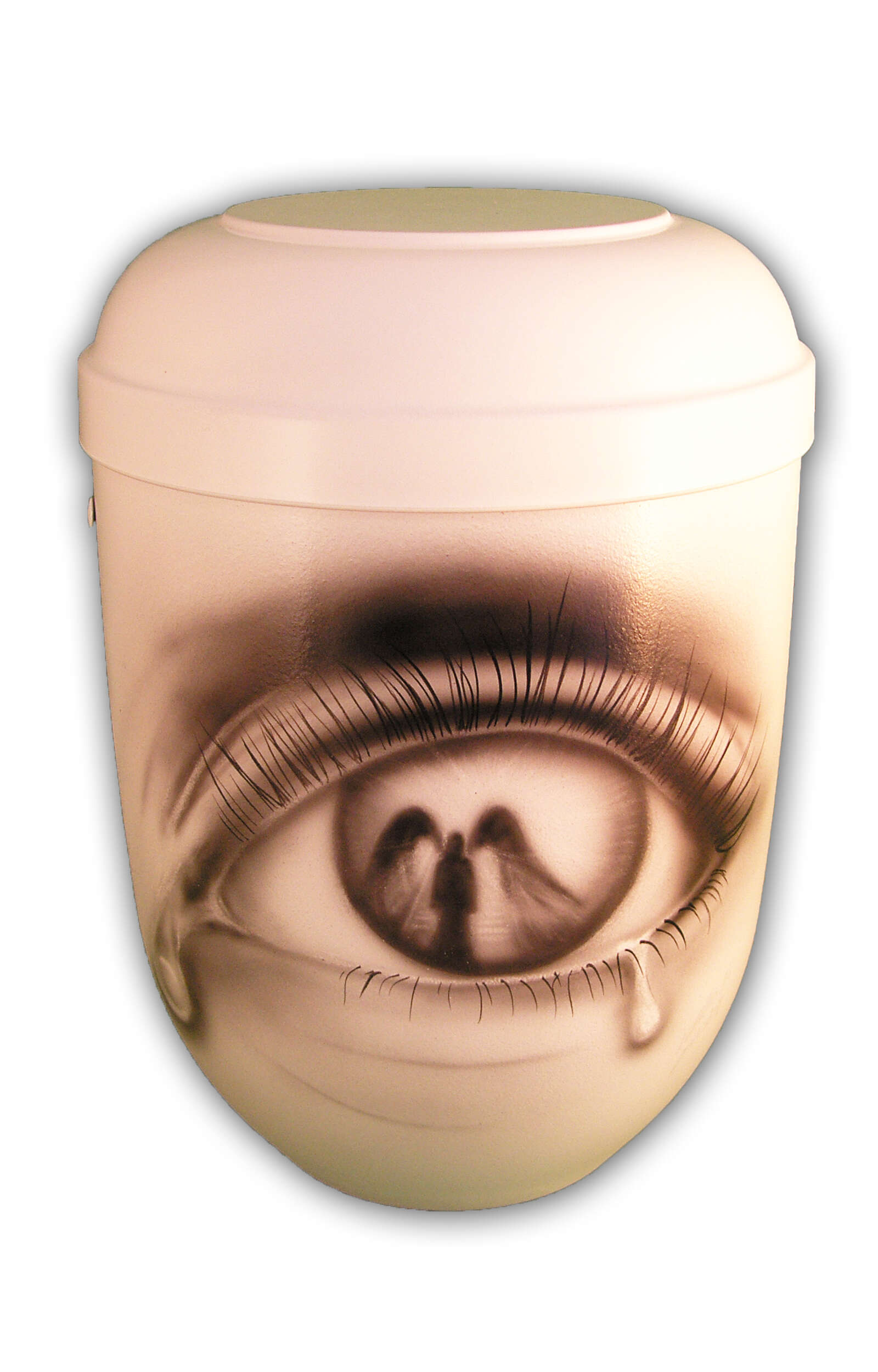 en BAA1306 angel bio urn airbrush white