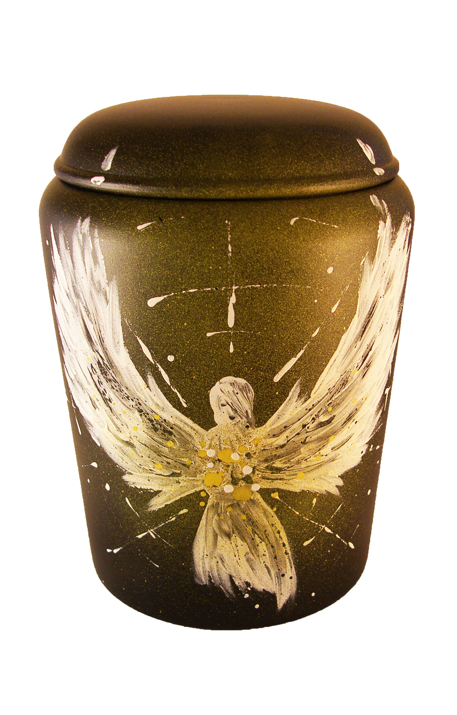 en BE3310 biodigradable urn comar angel of light funeral urns on sale yellow white