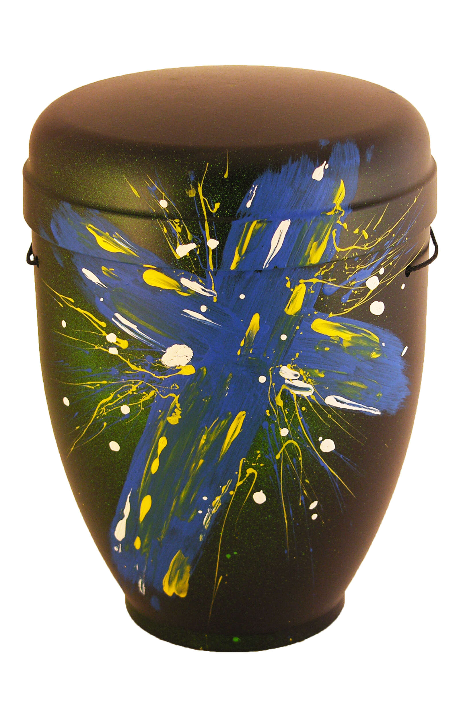 en BS3390 biodigradable urn comar funeral urns on sale holy cross blue green