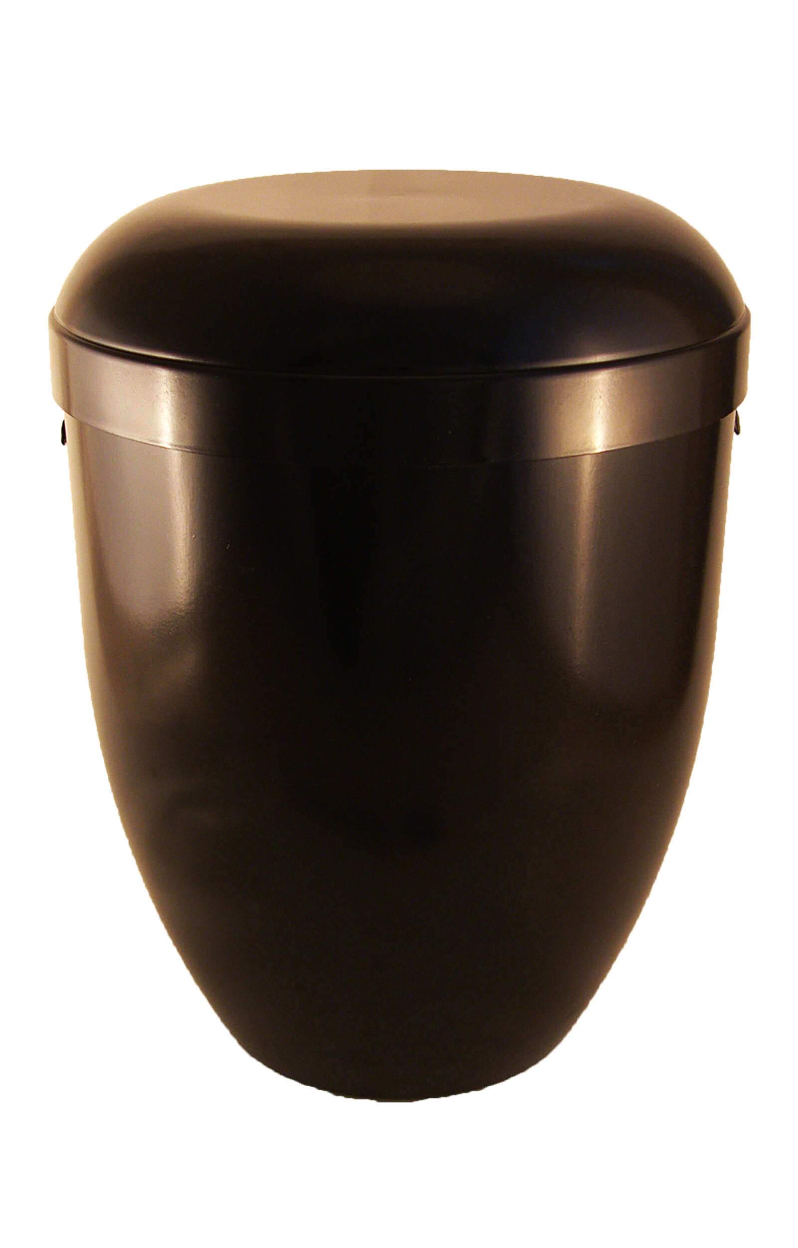 en BS3631 biodigradable urns glossy black funeral urn for human ashes on sale