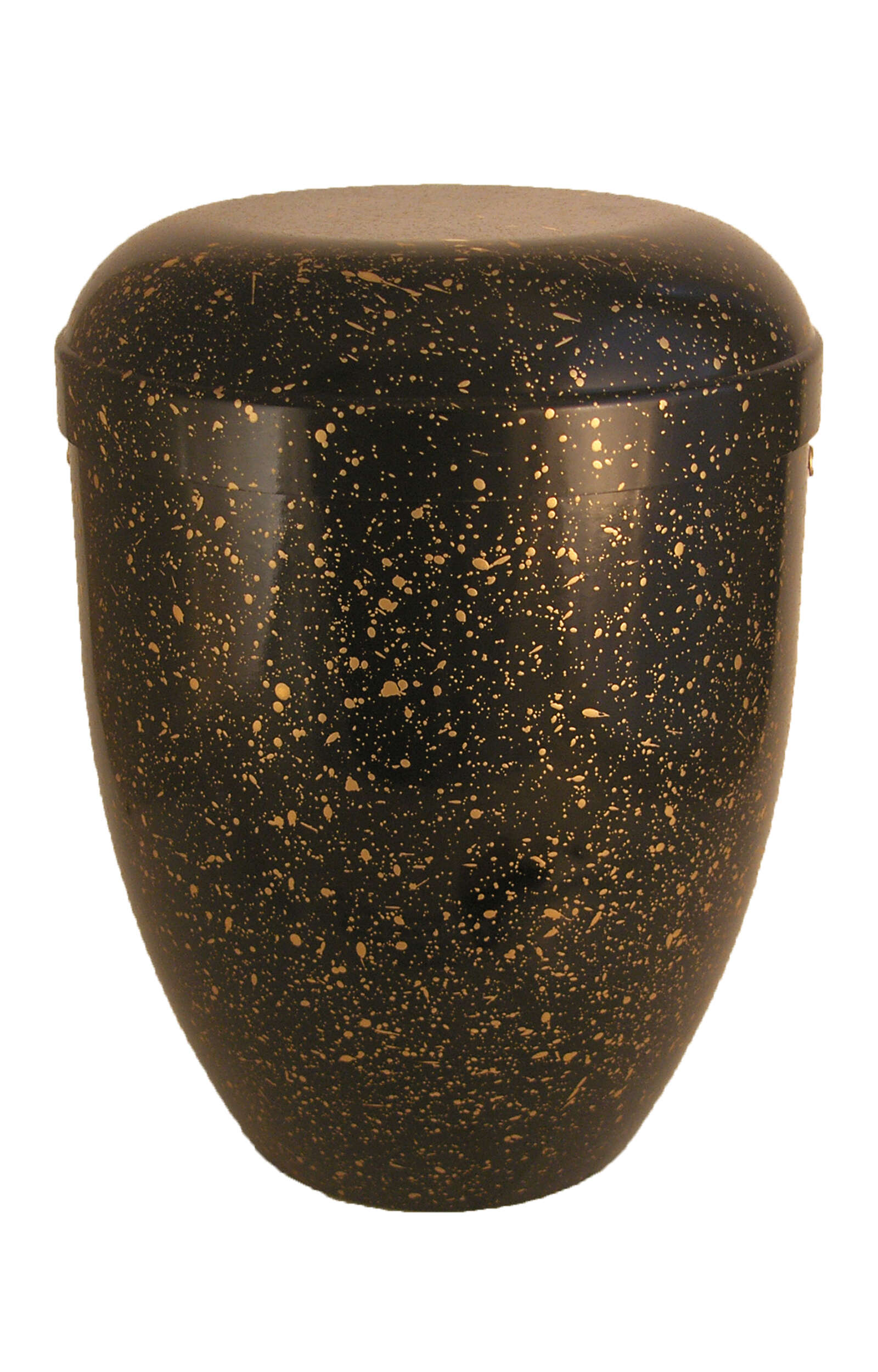 en BSG3620 funeral urns for human ashes biodegradable urn black gold mottled Glossy