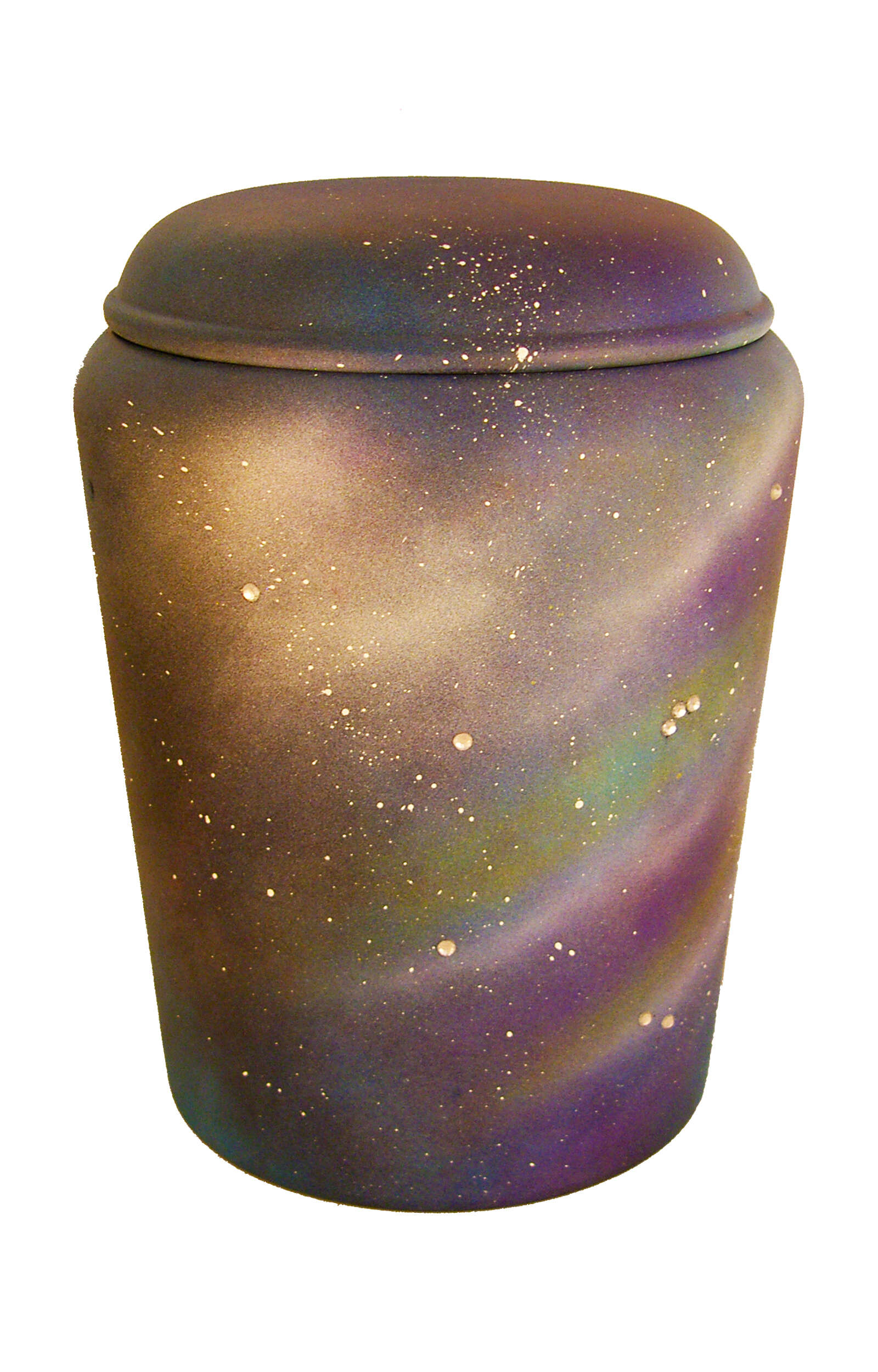 en BSU1727 biodigradable urn universe sky blue with gems funeral urn for human ashes