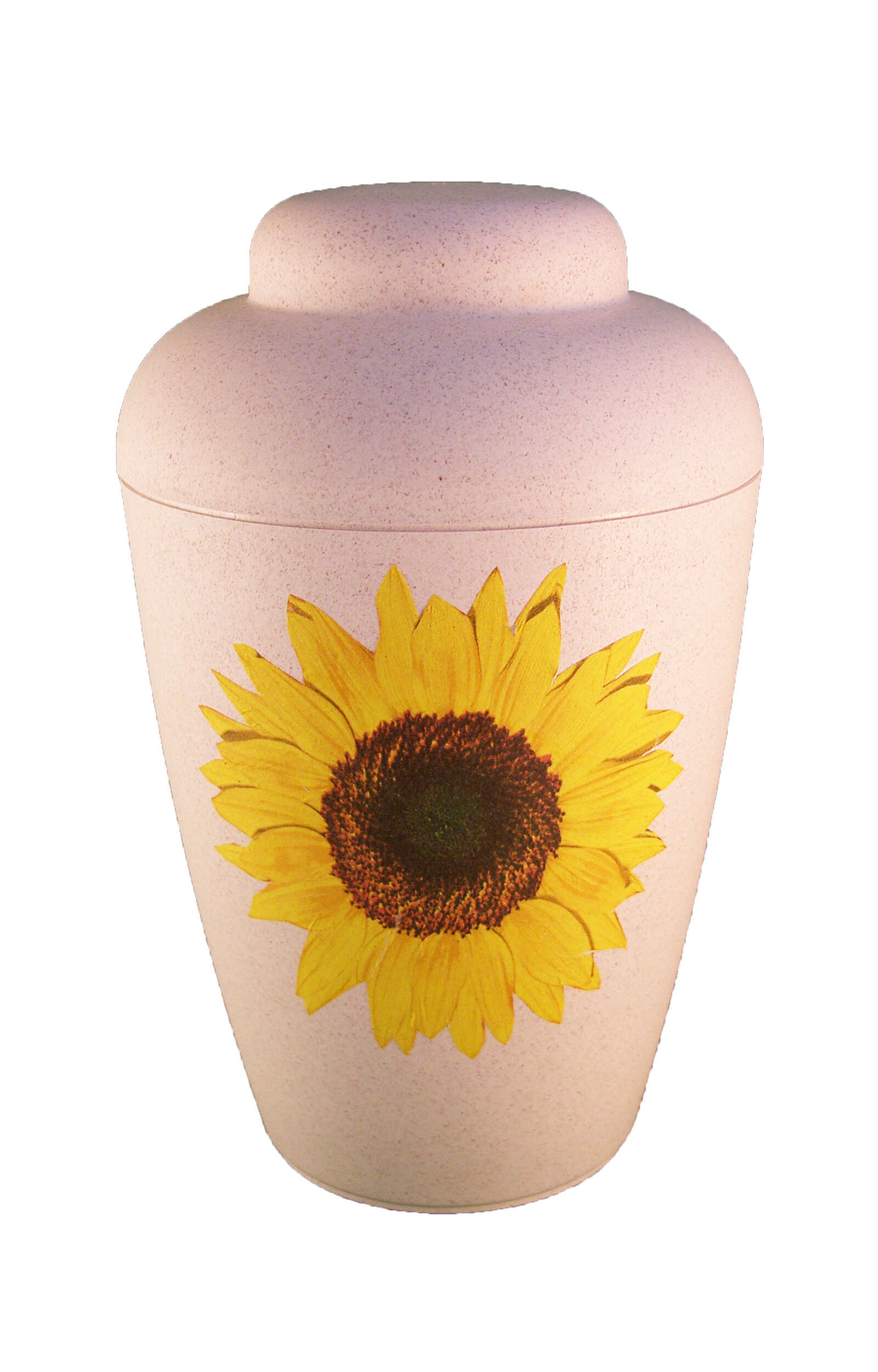 en BVS1701 biodegradable urn vale natur sunflower yellow funeral urns for human ashes