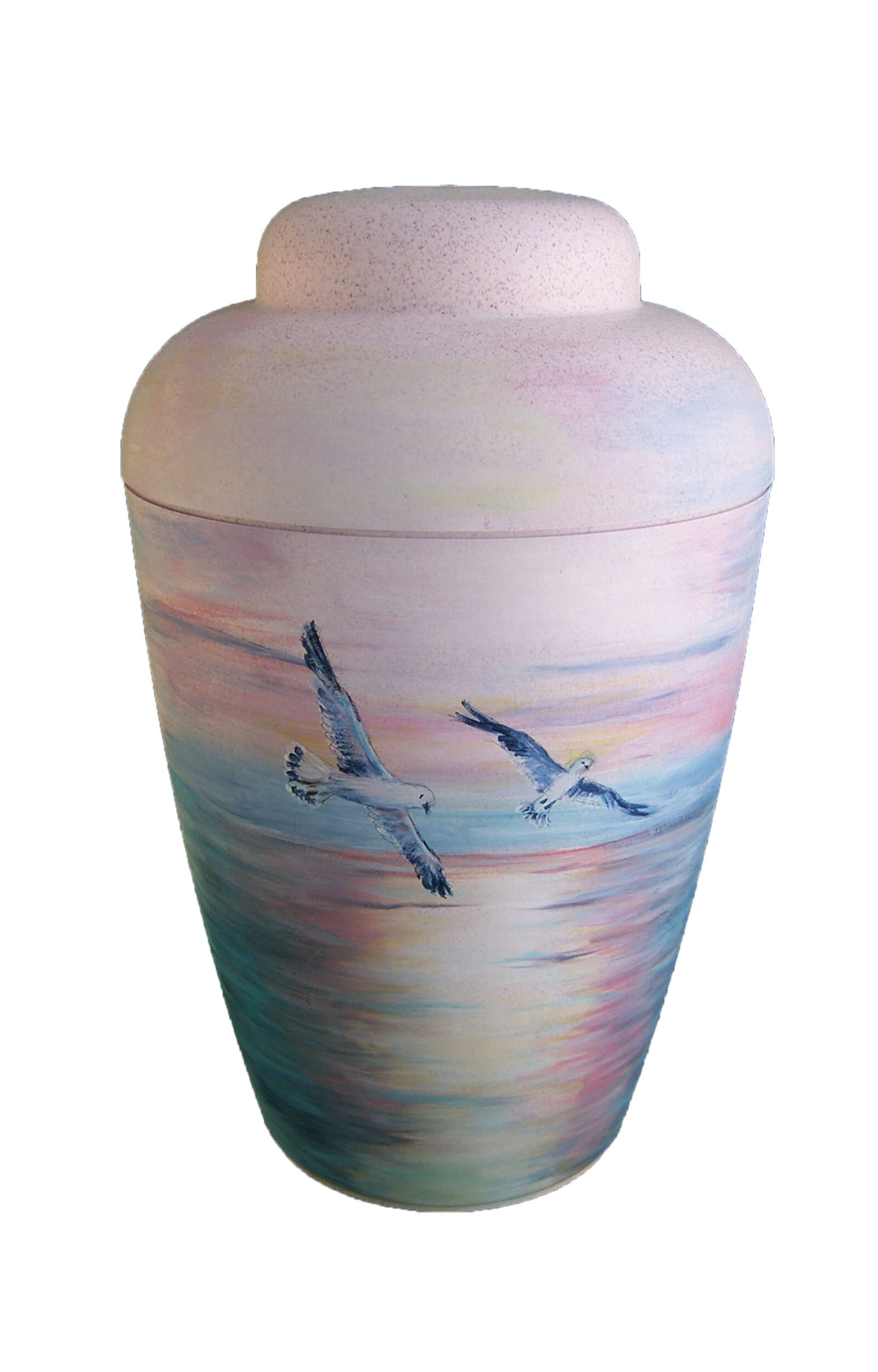 en BW1506 artist urn seagull sea lake biodogradable urns