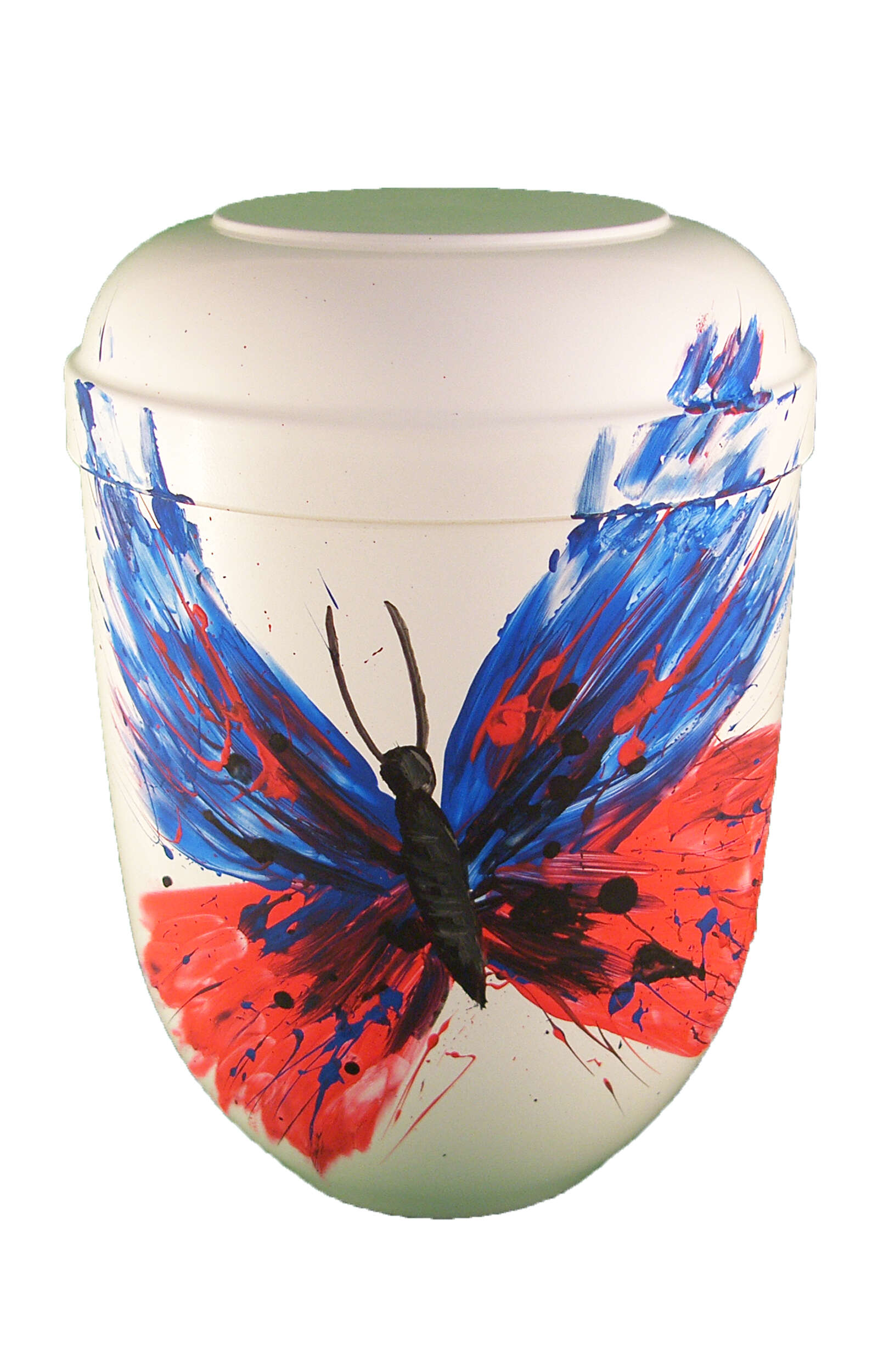 en BW3388 biodigradable urn white comar butterfly of resurrection funeral urns on sale