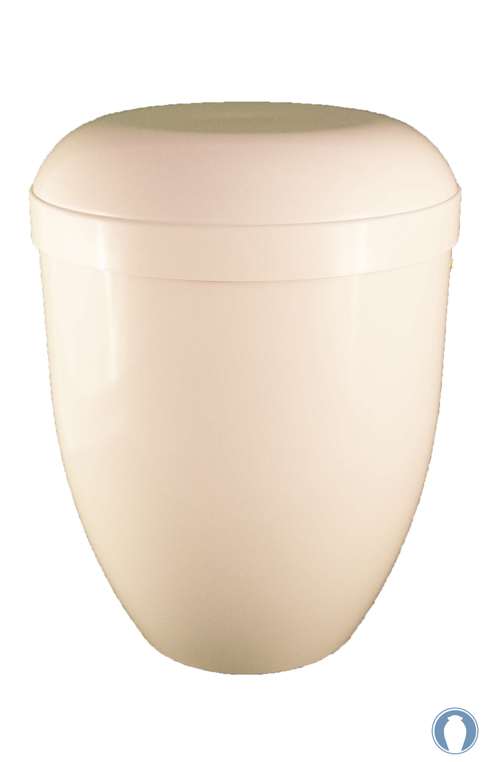 en BW3619 biodigradable urns glossy white funeral urn for human ashes on sale