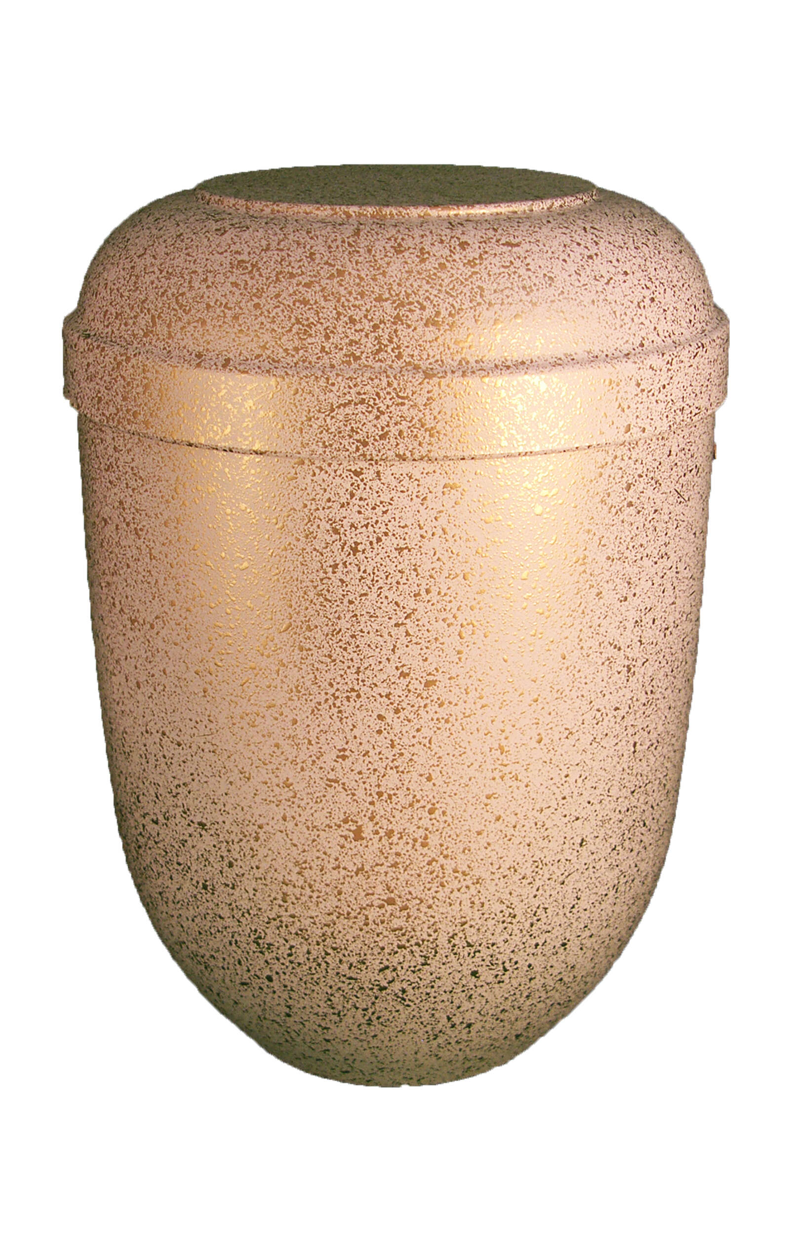 en BWG3622 funeral urns for human ashes biodegradable urn white gold mottled Glossy