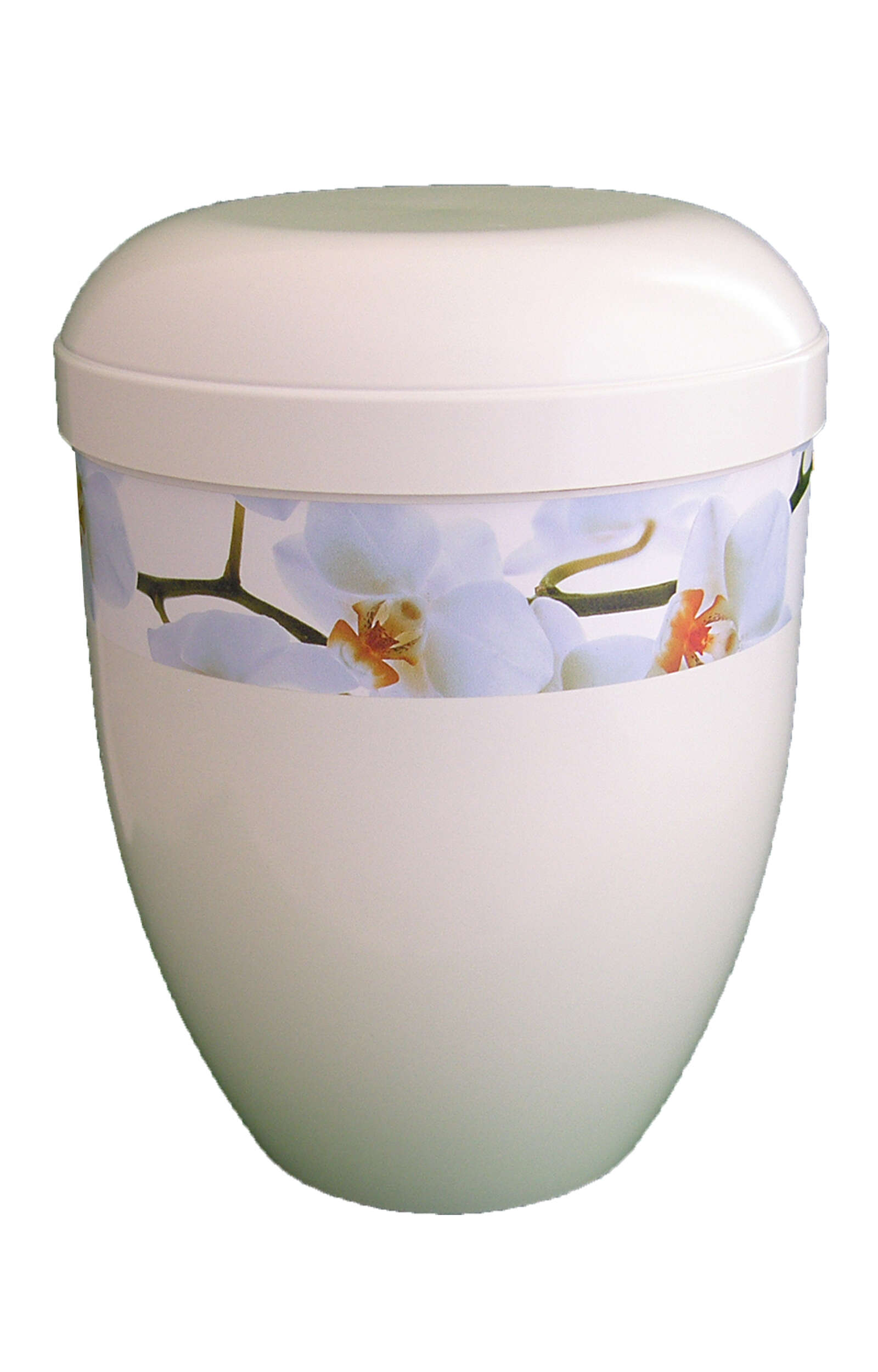 en BWG3706 biodigradable urn flower white glossy orchid funeral urns on sale panorama