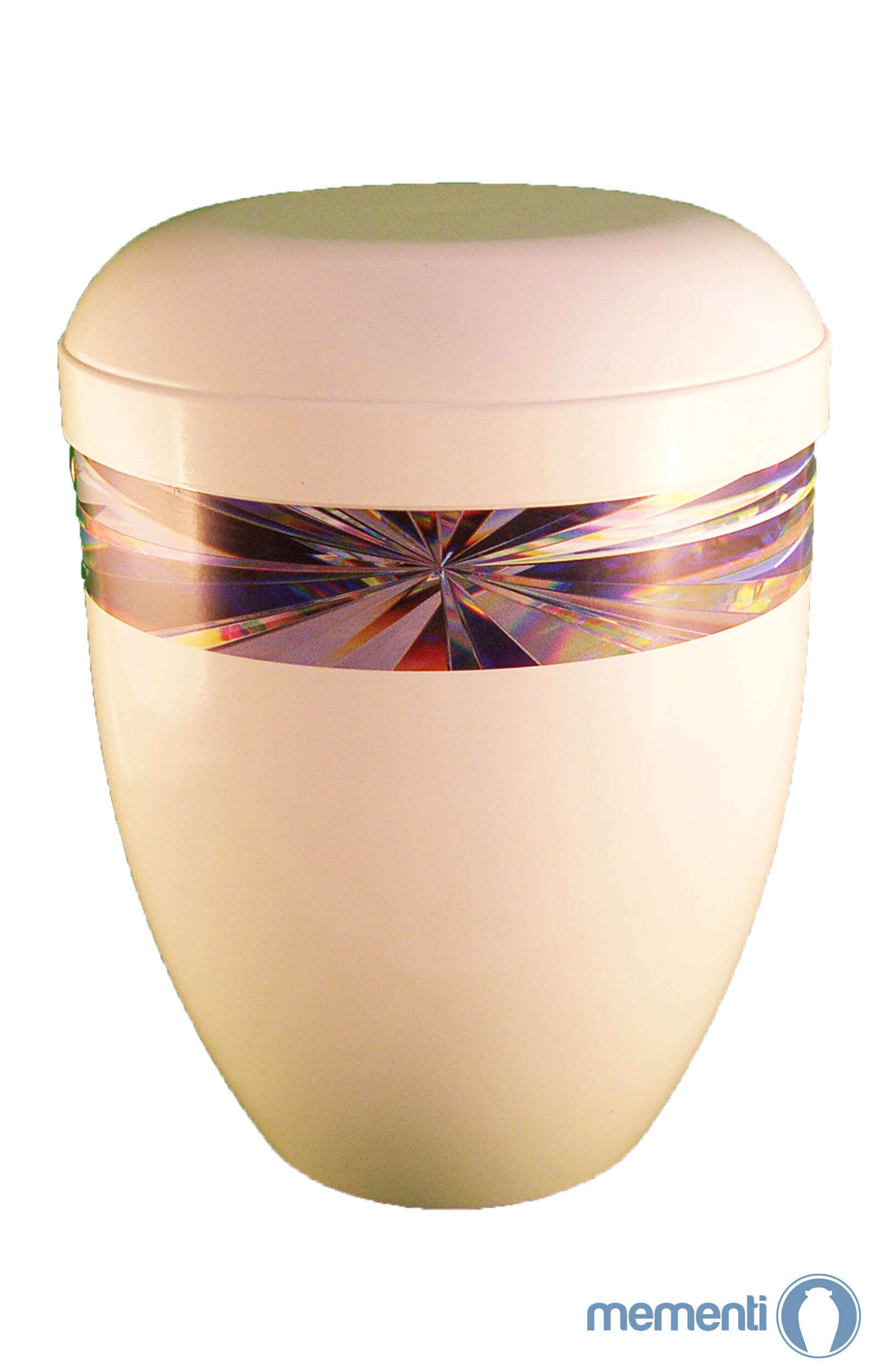 en BWG3711 bio urn white with diamond design