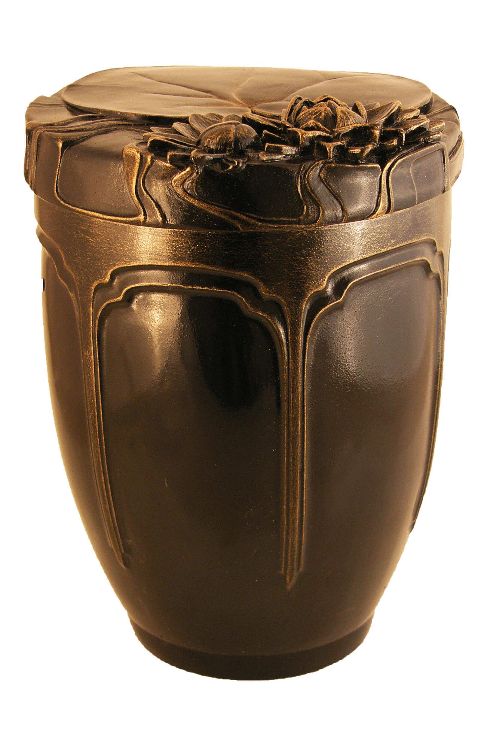 en KB1578 ceramic urn funeral urn for human ashes lili brown
