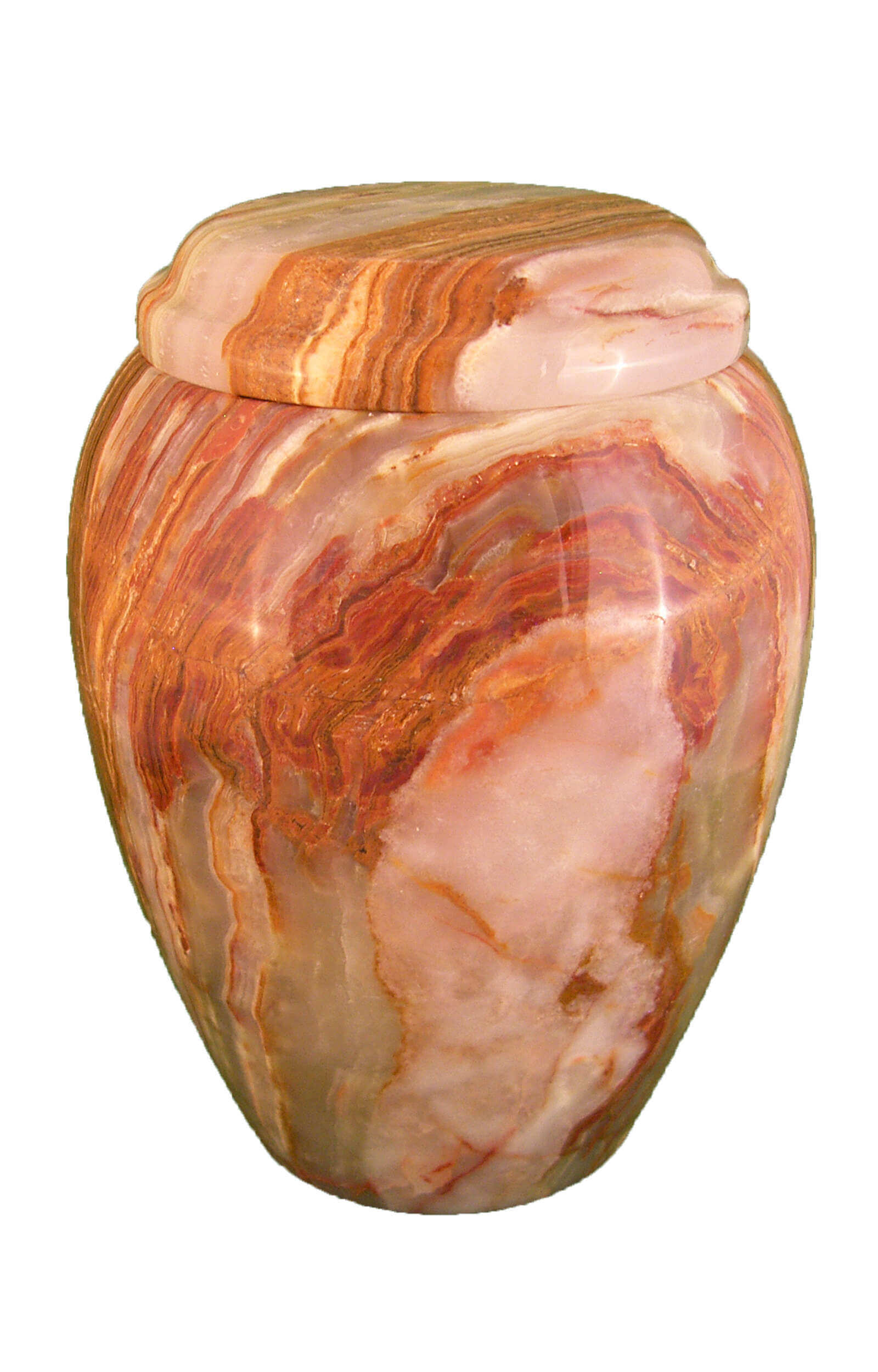 en MA2913 Onyx marbel urn for human ashes multi colour glossy funeral urns on sale