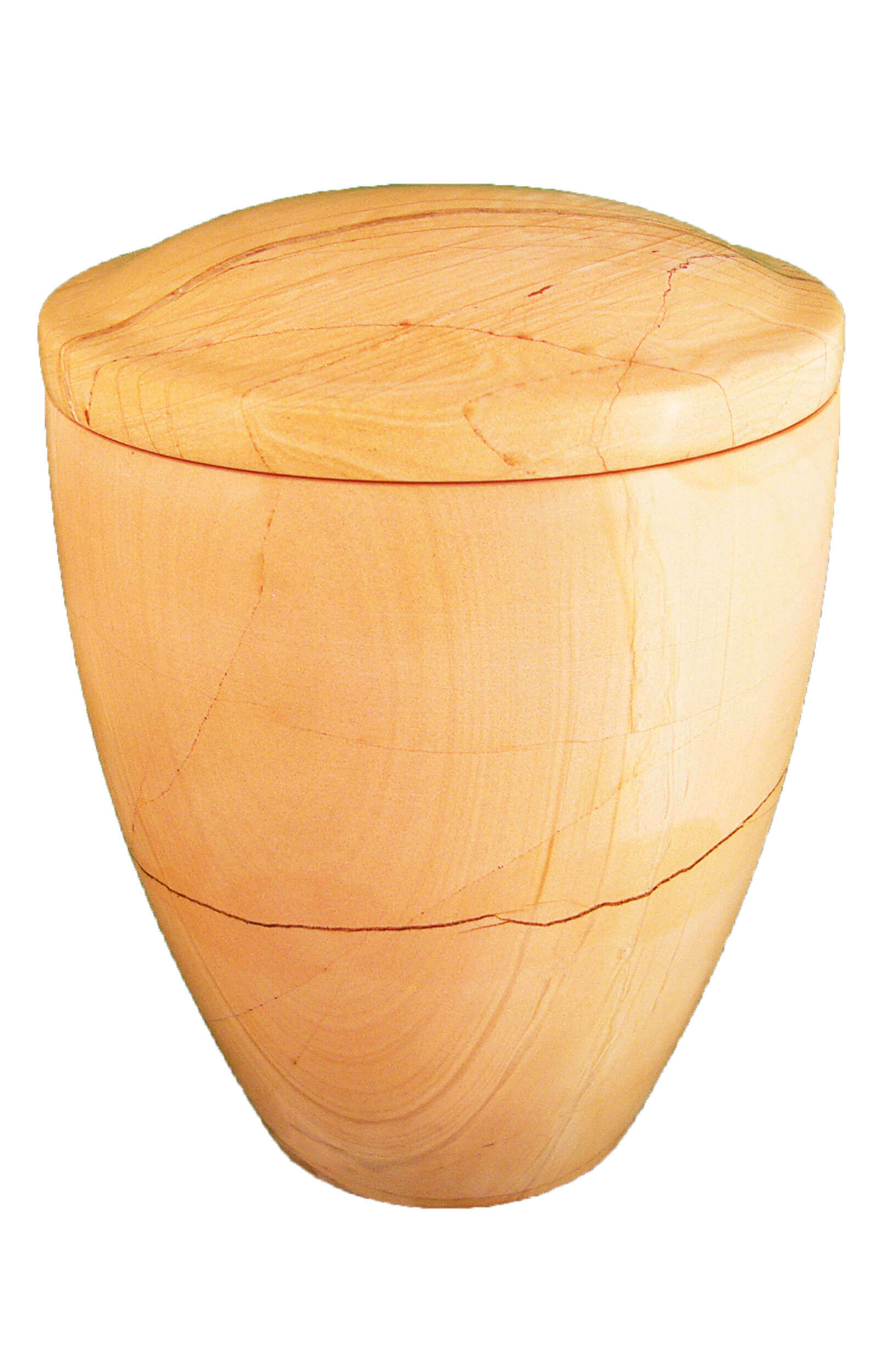 en MA2914 Burma Teak marbel urn for human ashes glossy cream white funeral urns on sale