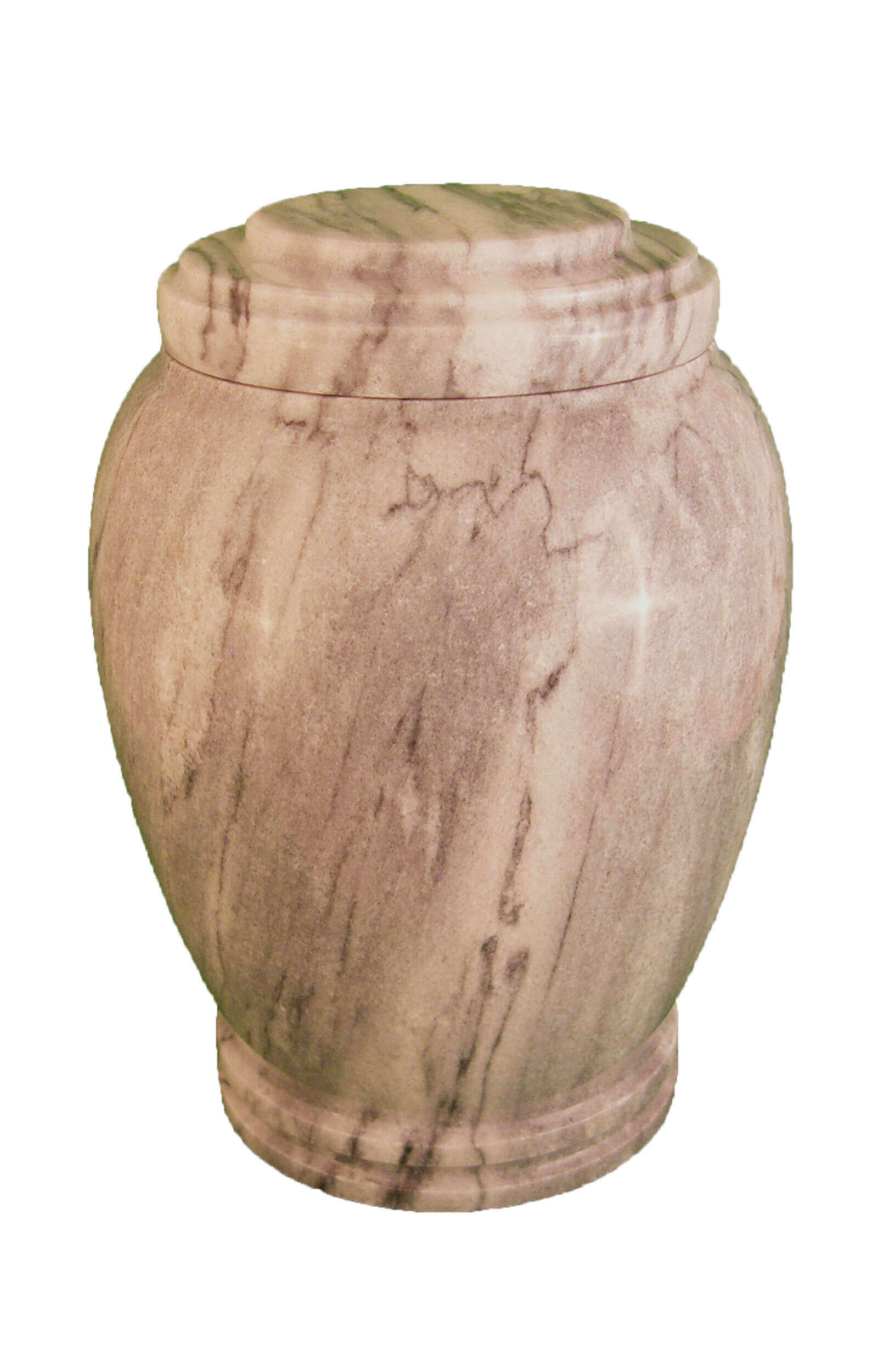 en MA2923 Zebra grey marbel urn for human ashes grey round glossy funeral urns on sale