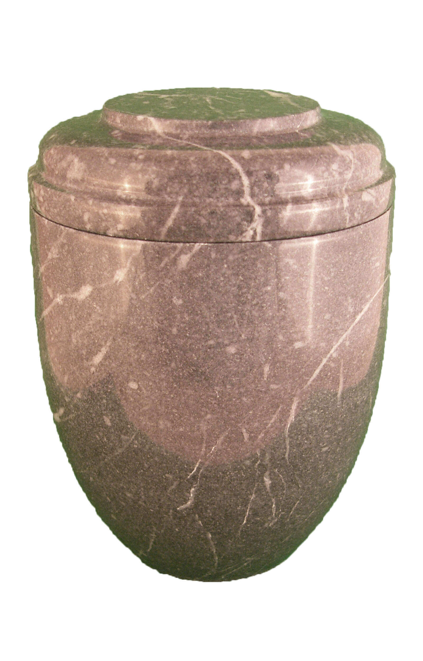 en MA2927 Zebra grey marbel urn for human ashes grey black round funeral urns on sale
