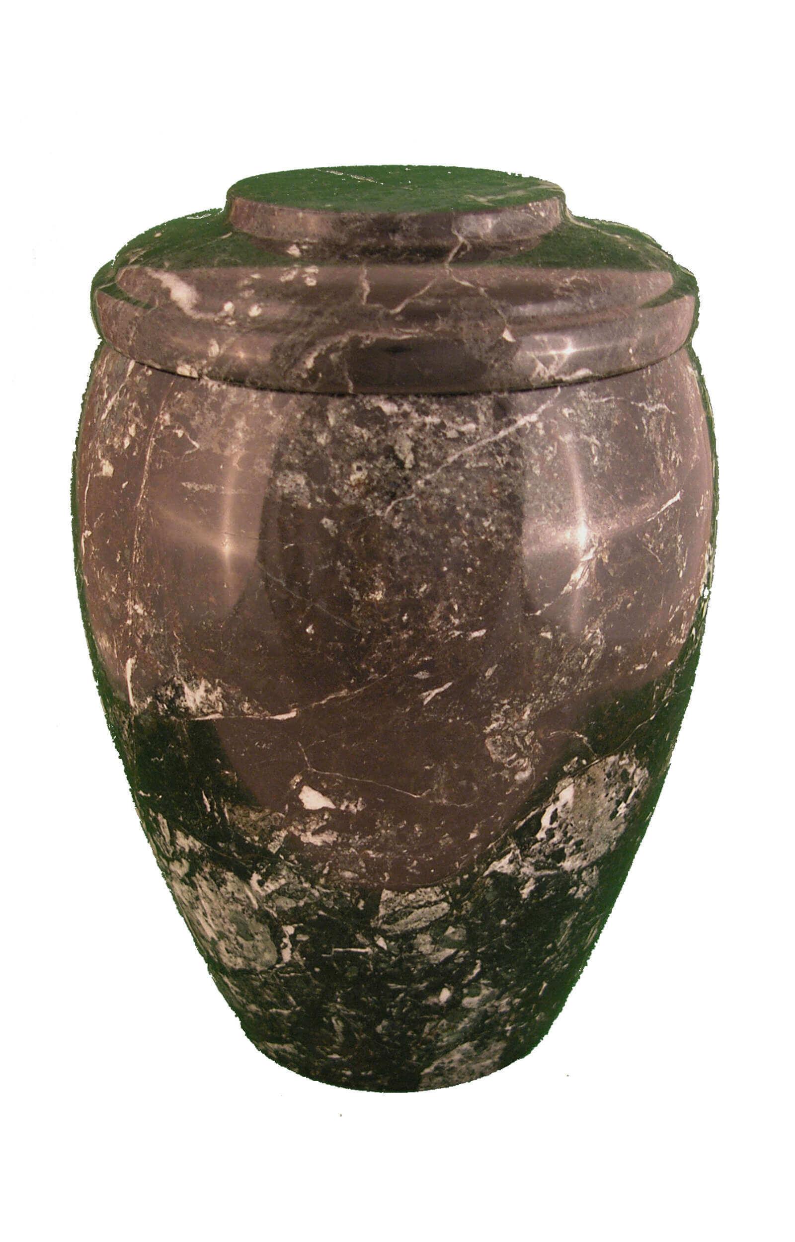 en MA2968 Black Zebra marbel urn for human ashes black white funeral urns on sale