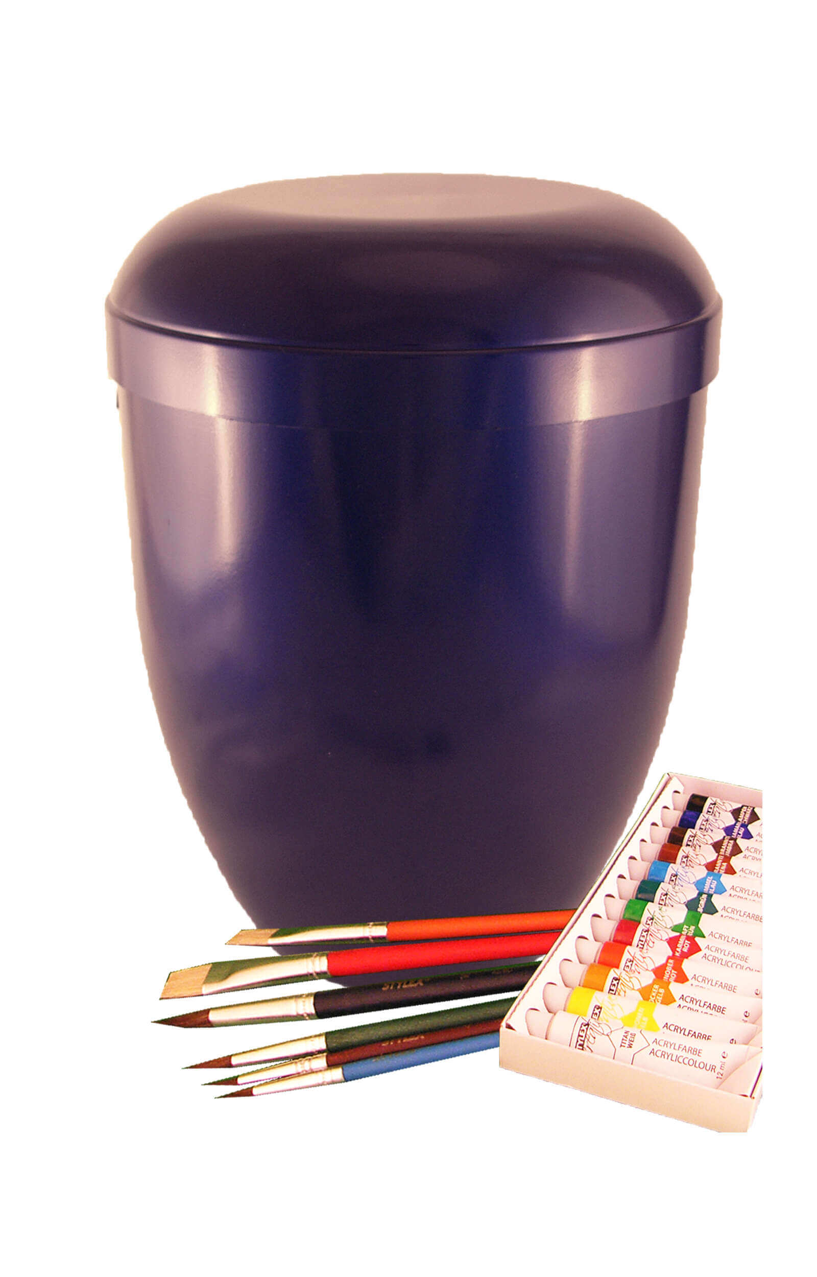 en MW4315 self painted urns blue funeral urn on sale