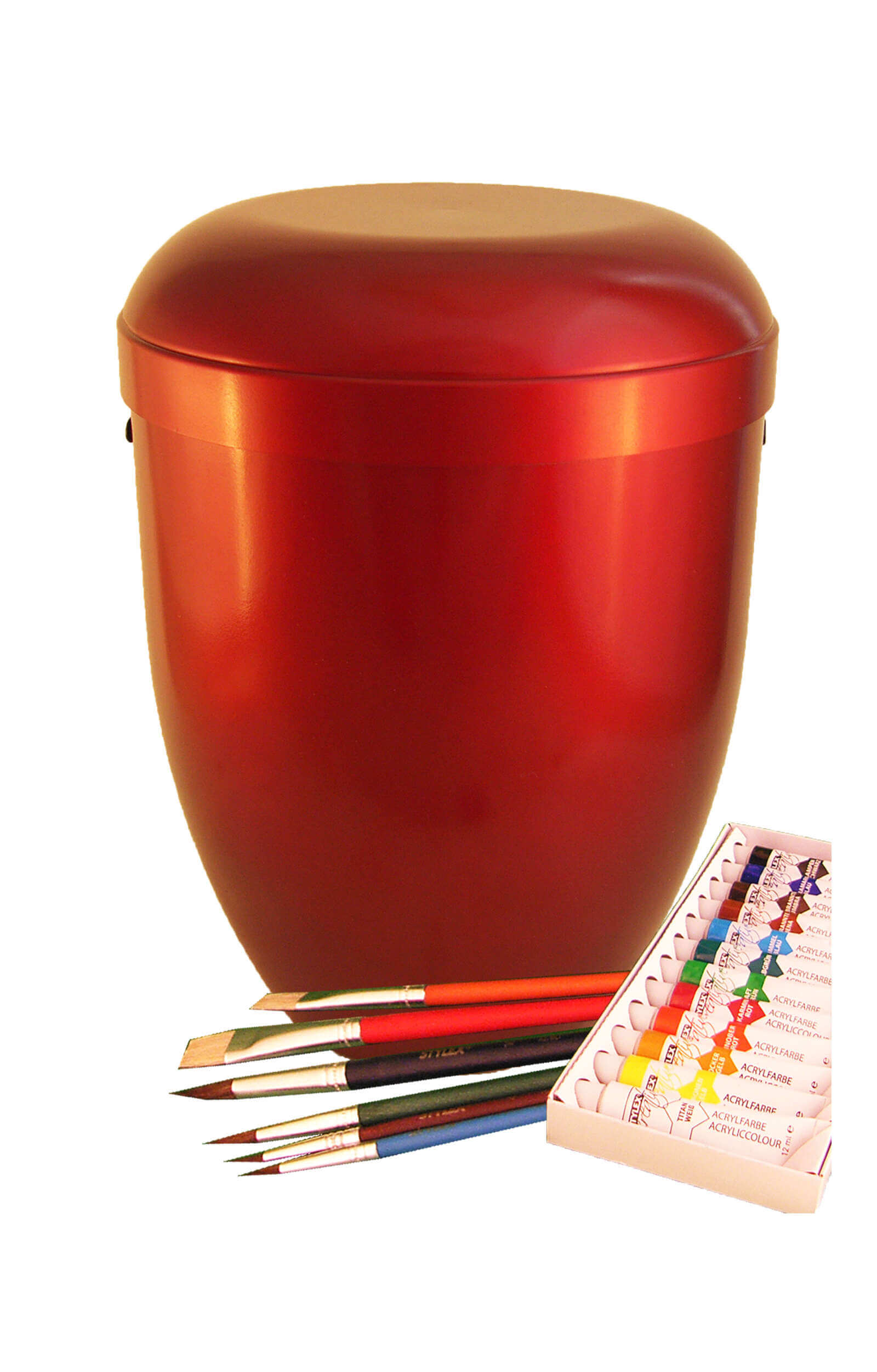 en MW4316 self painted urns red funeral urn on sale
