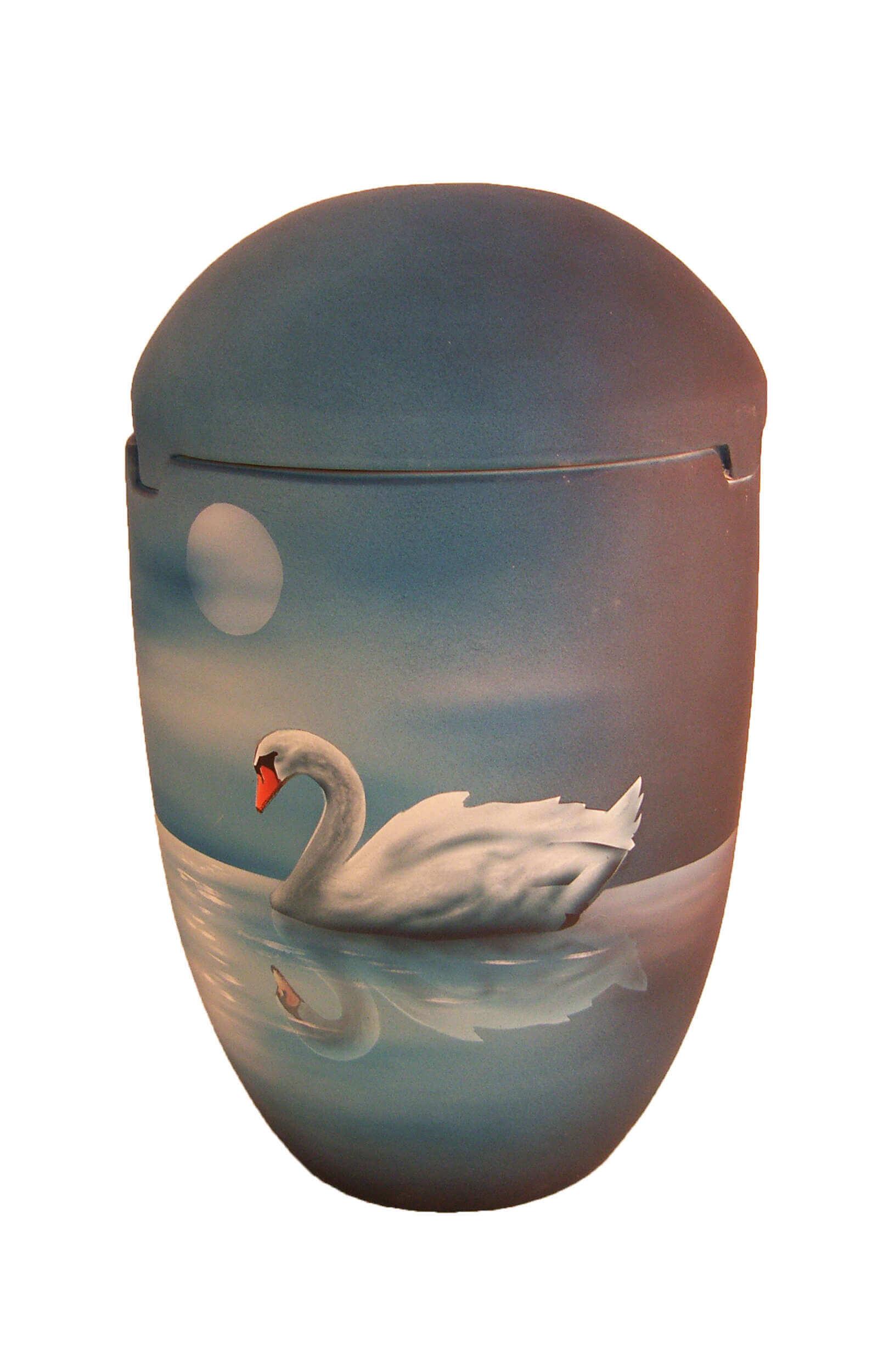 en SBS7025 sea urns sky Moon swan cygnus grey blue night biodigradable funeral urn on sale