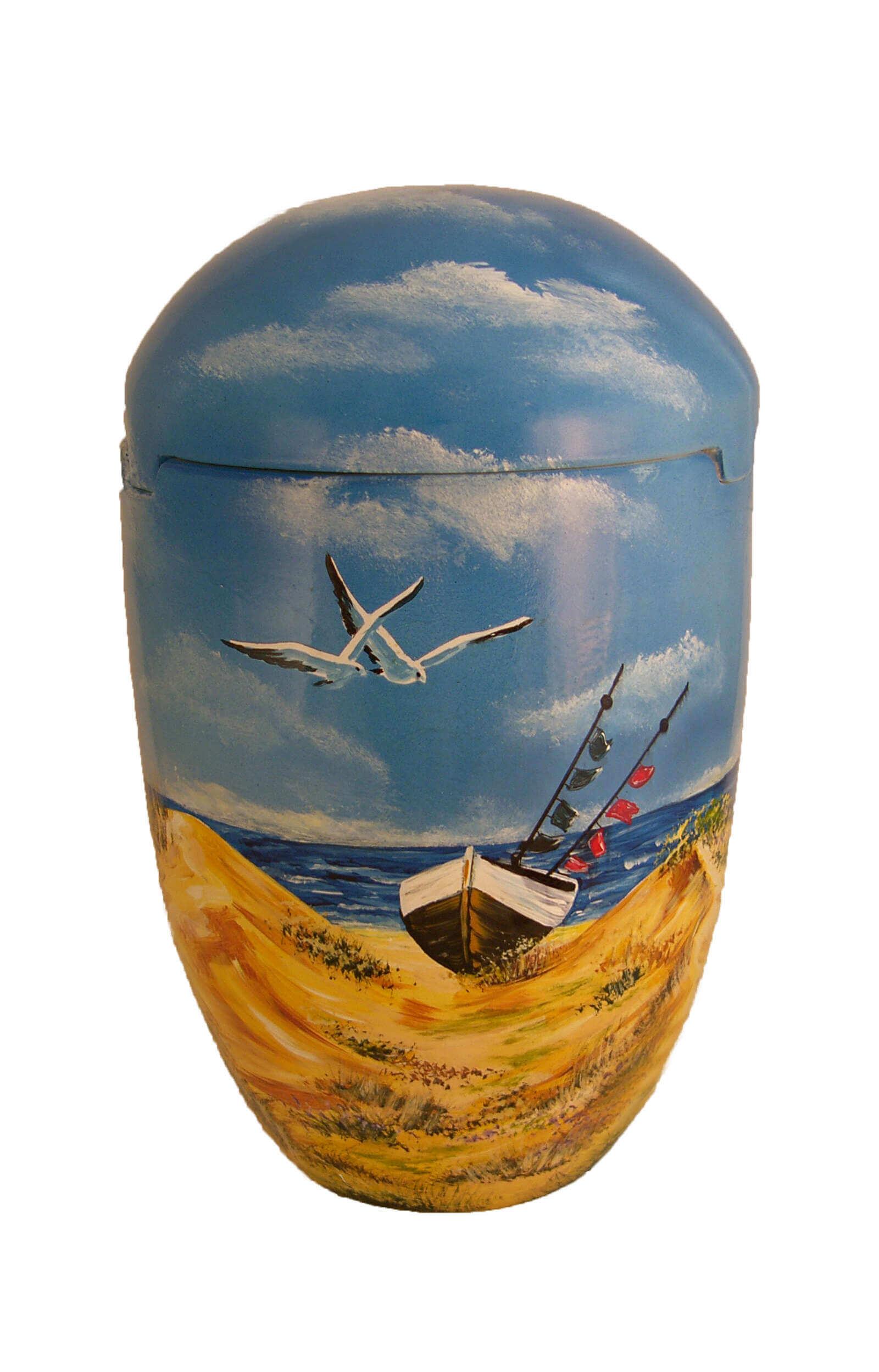 en SBS7026 sea urn biodigradable gull beach ship funeral urns on sale