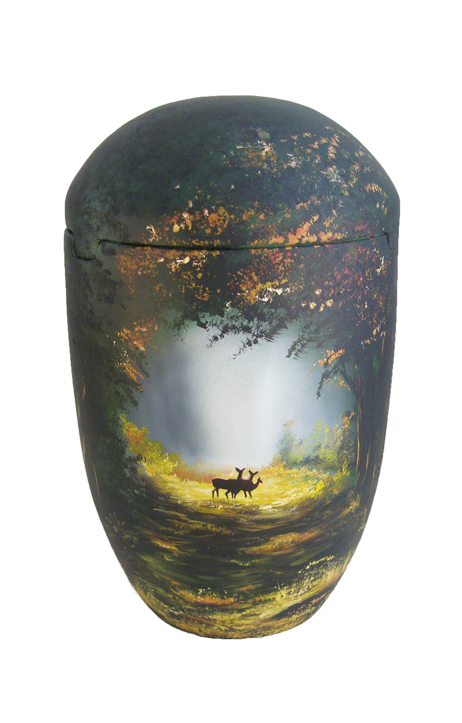 en SBW7028 sea urn forest stag deer sun funeral urns on sale for human ashes tree green black
