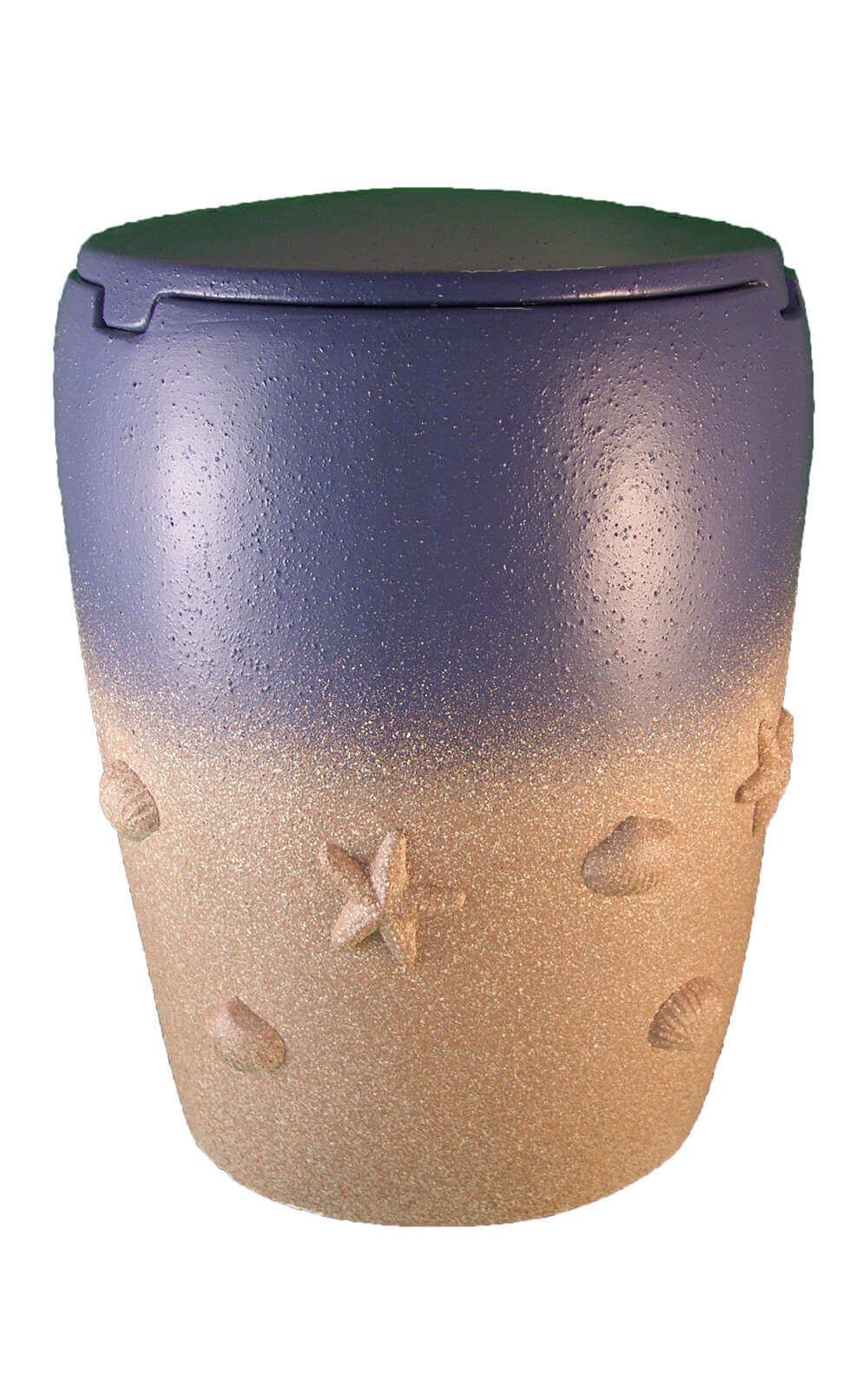 en SS7014 sea urn beach of memories blue beige funeral urns on sale