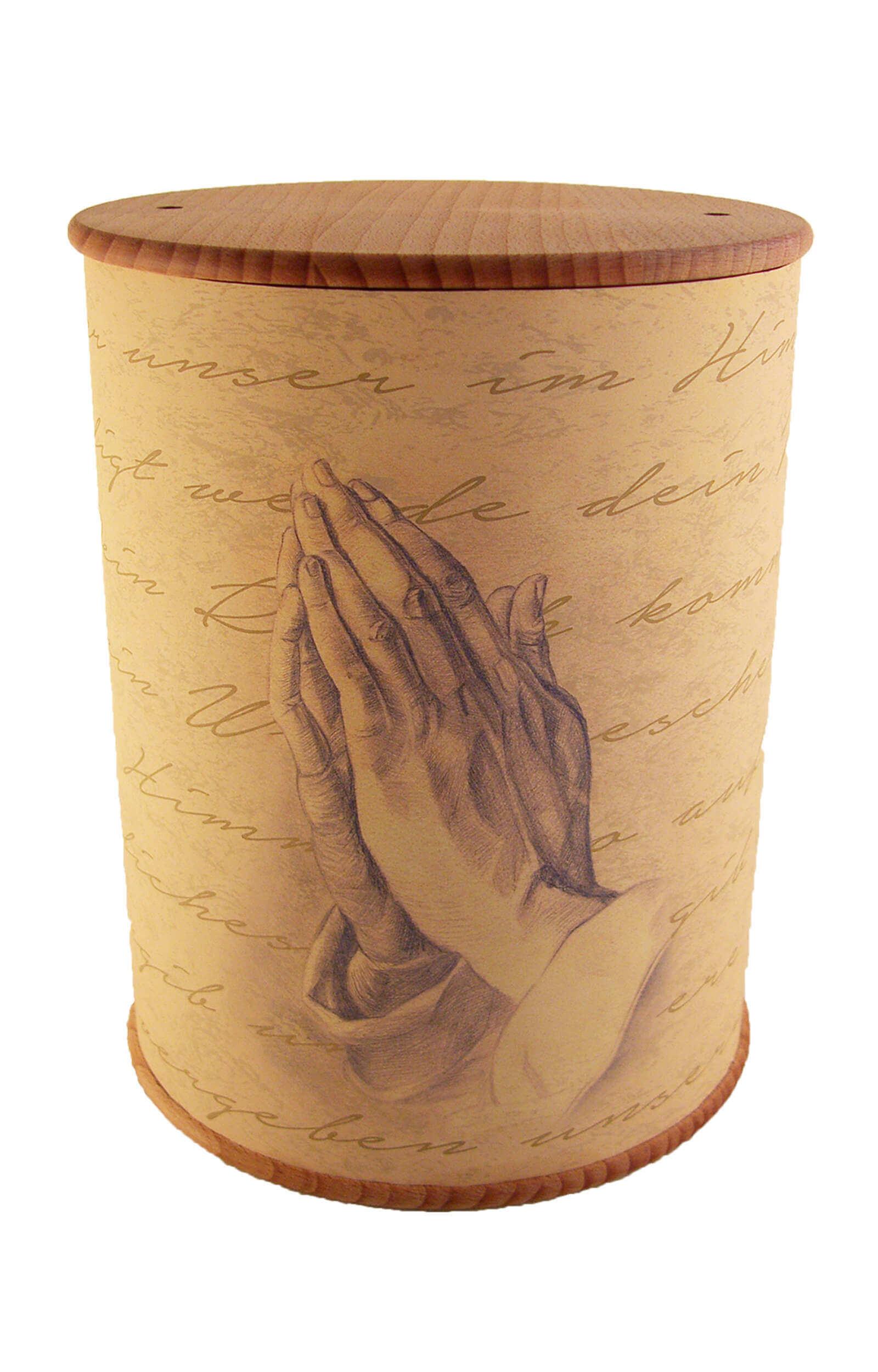 en ZB006 photo urn praying hands biodigradable funeral urns on sale