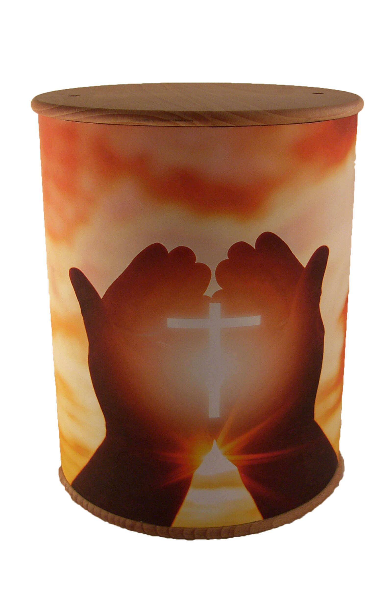en ZB007 photo urn hands cross