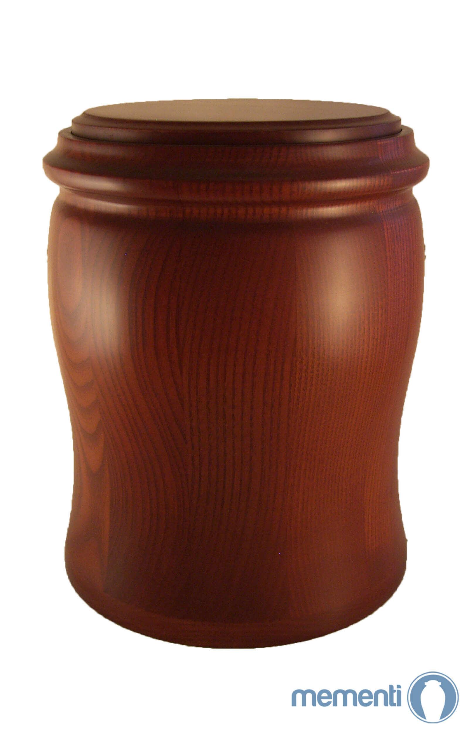en HR03 pecan brown wood grain urn