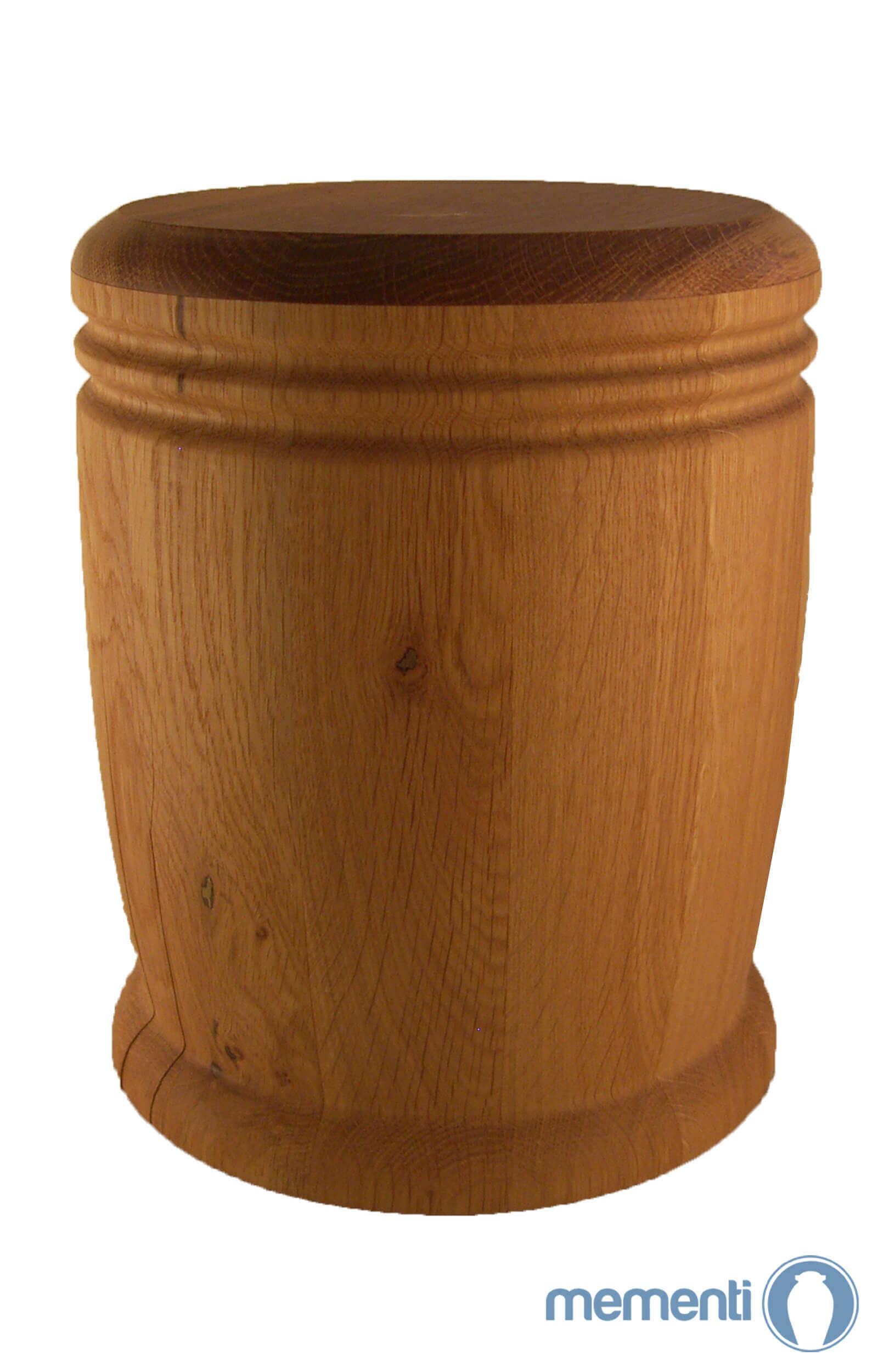en HR07 large oak wooden urn