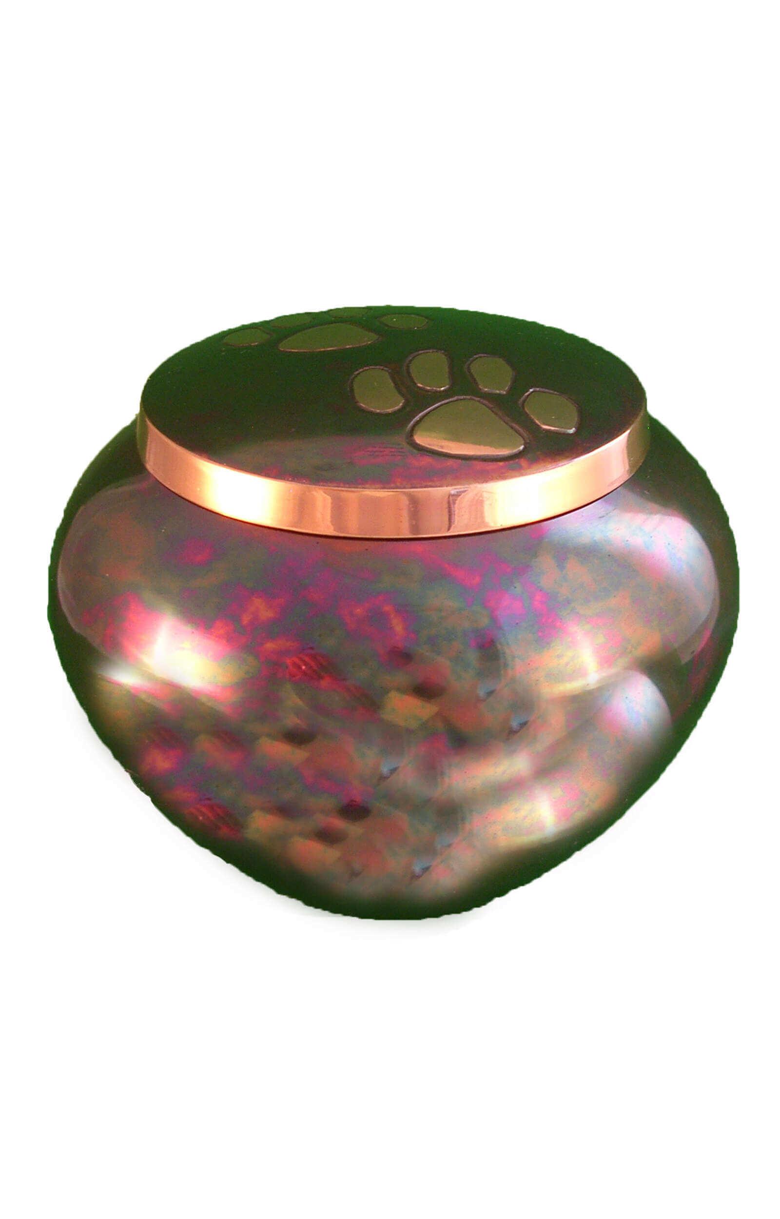 en TIB1542 multicoloured pawprint pet urn.jpg