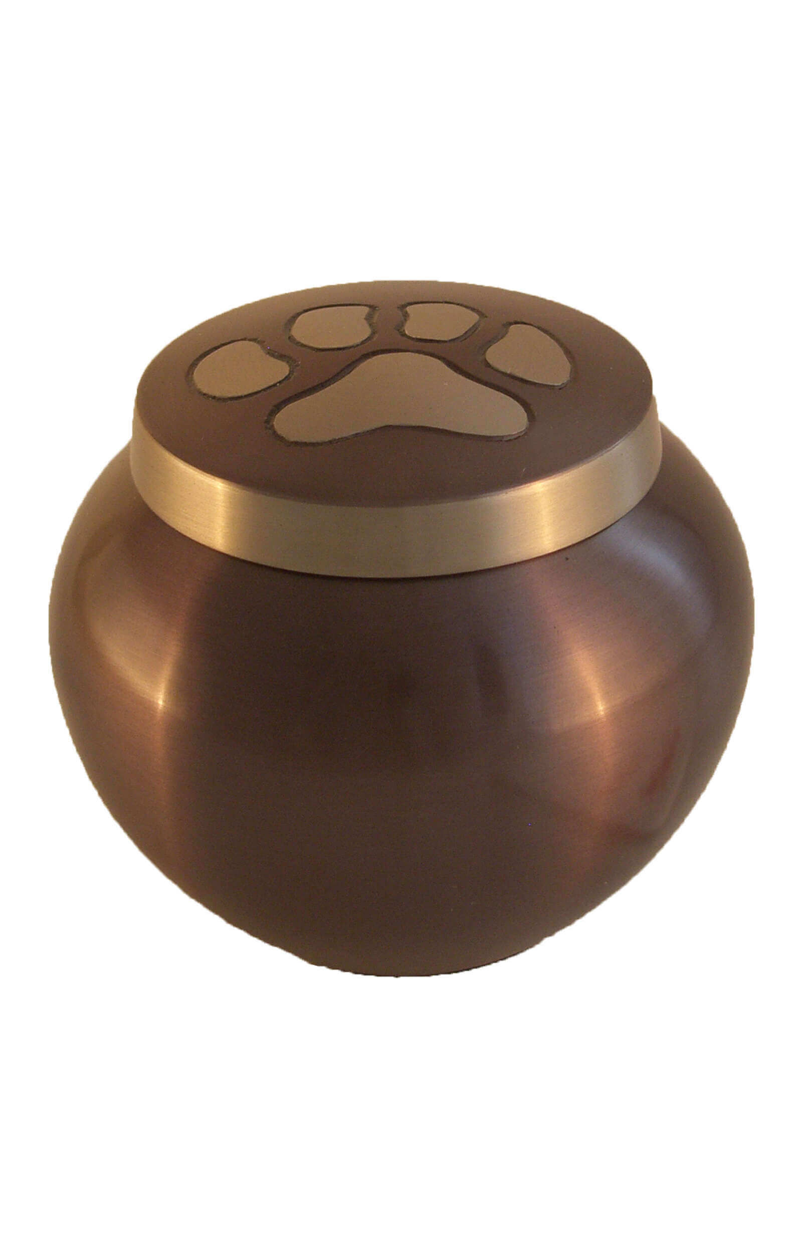 en TIB6007S mocha brown pawprint pet urn jpg