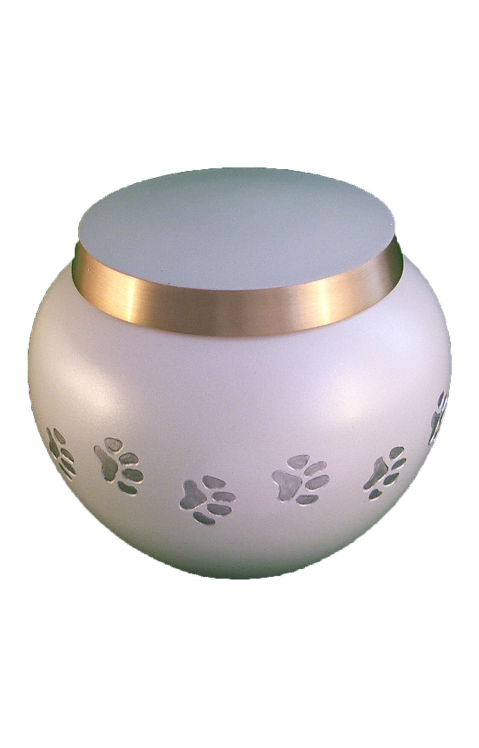 en TIB6012M porcelain white pawprint pet urn jpg