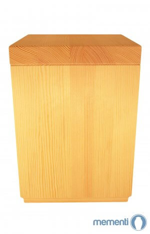 en HP03 Square pine wood urn
