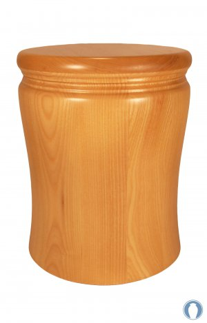 en HR12 ash wood urn matt finish