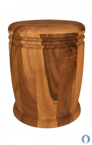 en HR15 walnut wood cremation urn