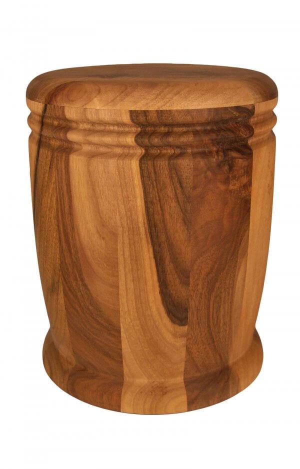 en HR15 walnut wood cremation urn