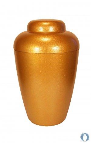 en VG01 biodegradable gold cremation urn