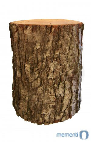 Biodegradable wooden bark urn